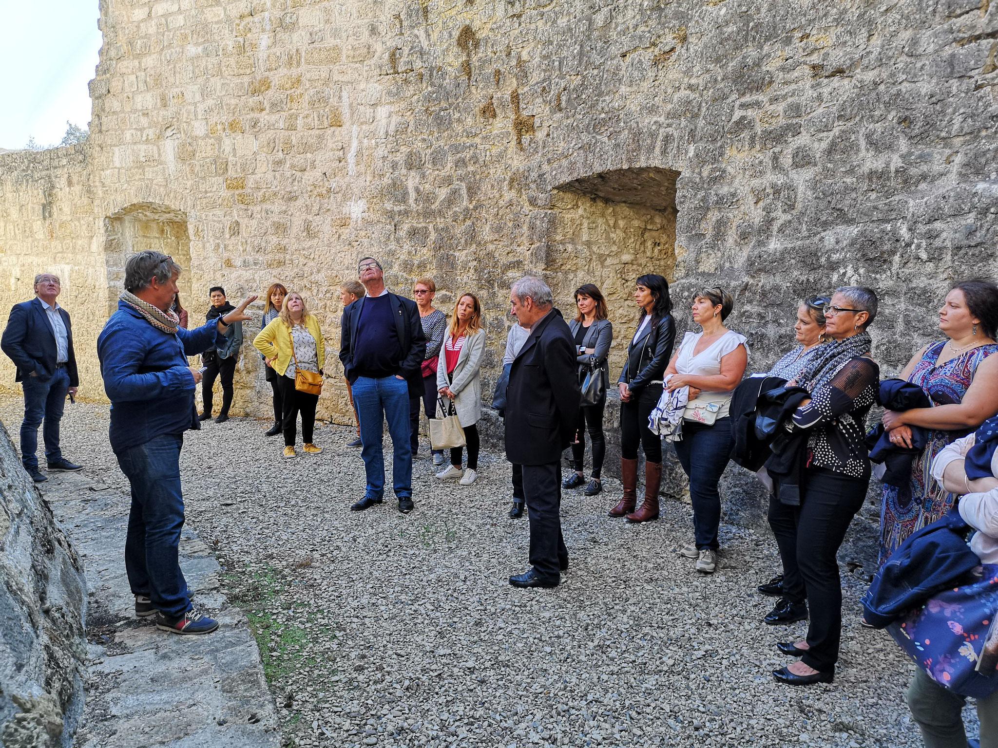 Visite de la Forteresse de Châtel-sur-Moselle par René ELTER (Directeur)