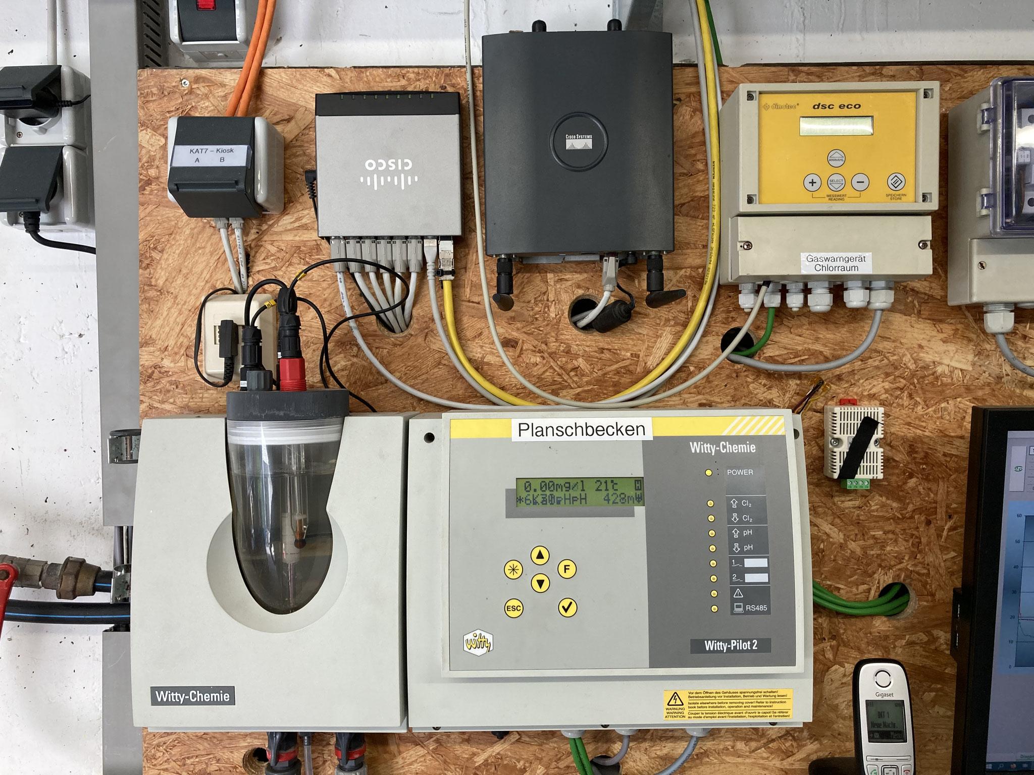 Chlor und pH Messgerät für das Planschbecken