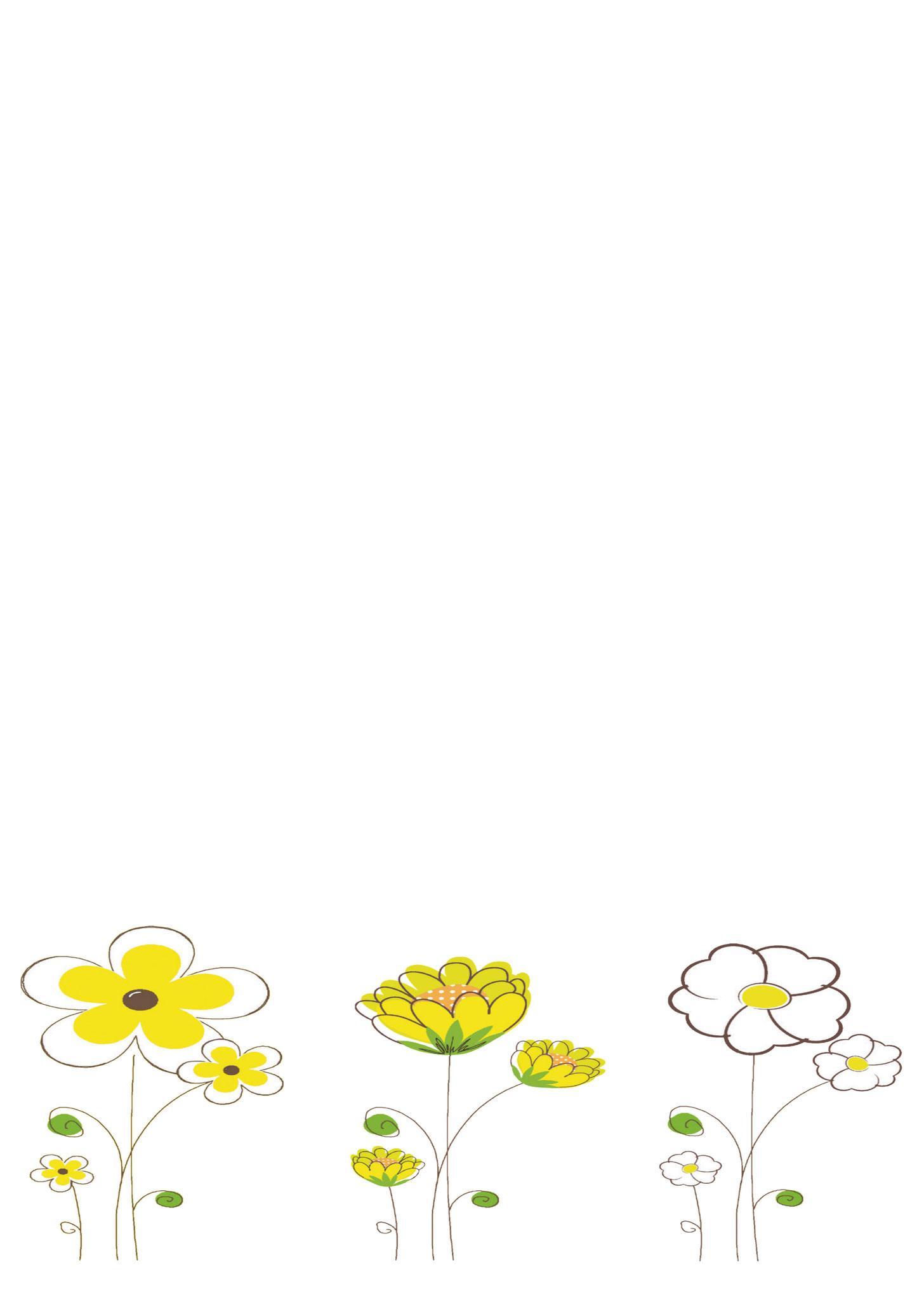 Briefpapier Frühlingsblumen
