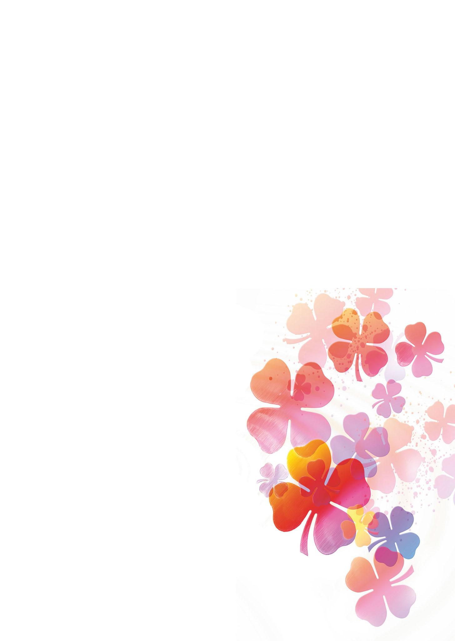 Briefpapier Glücksklee (rosa)