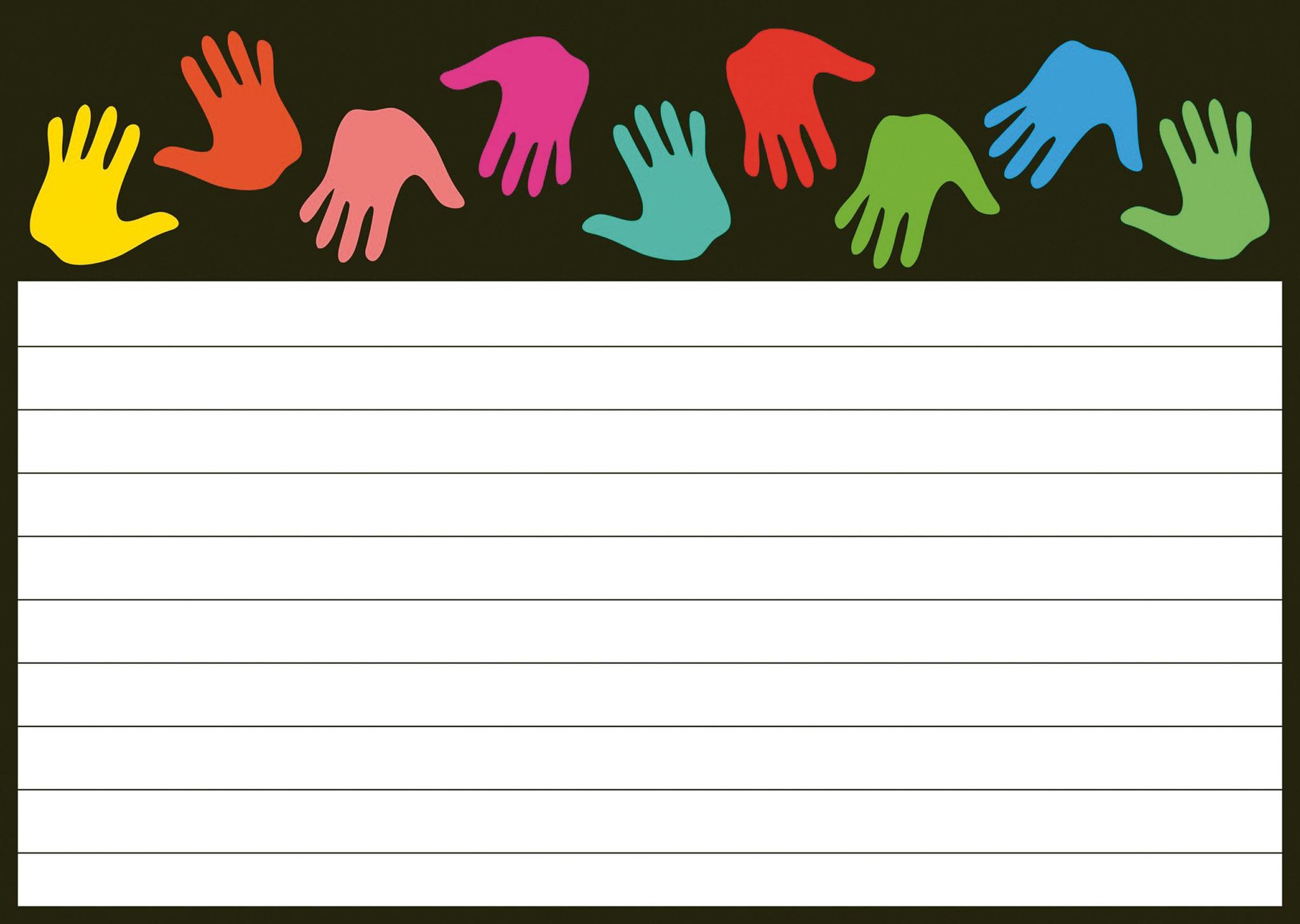 Briefpapier Hände