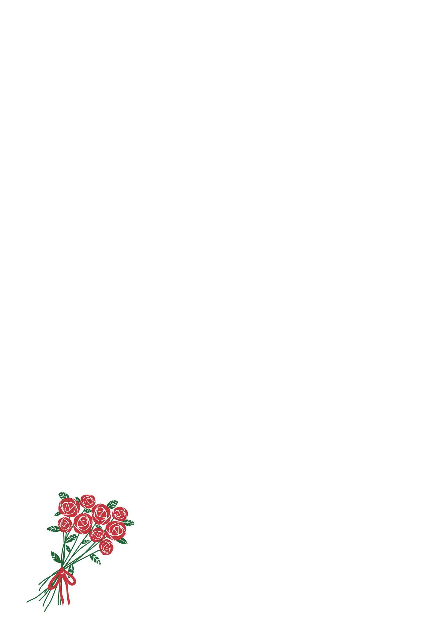 Briefpapier Blumenstrauß