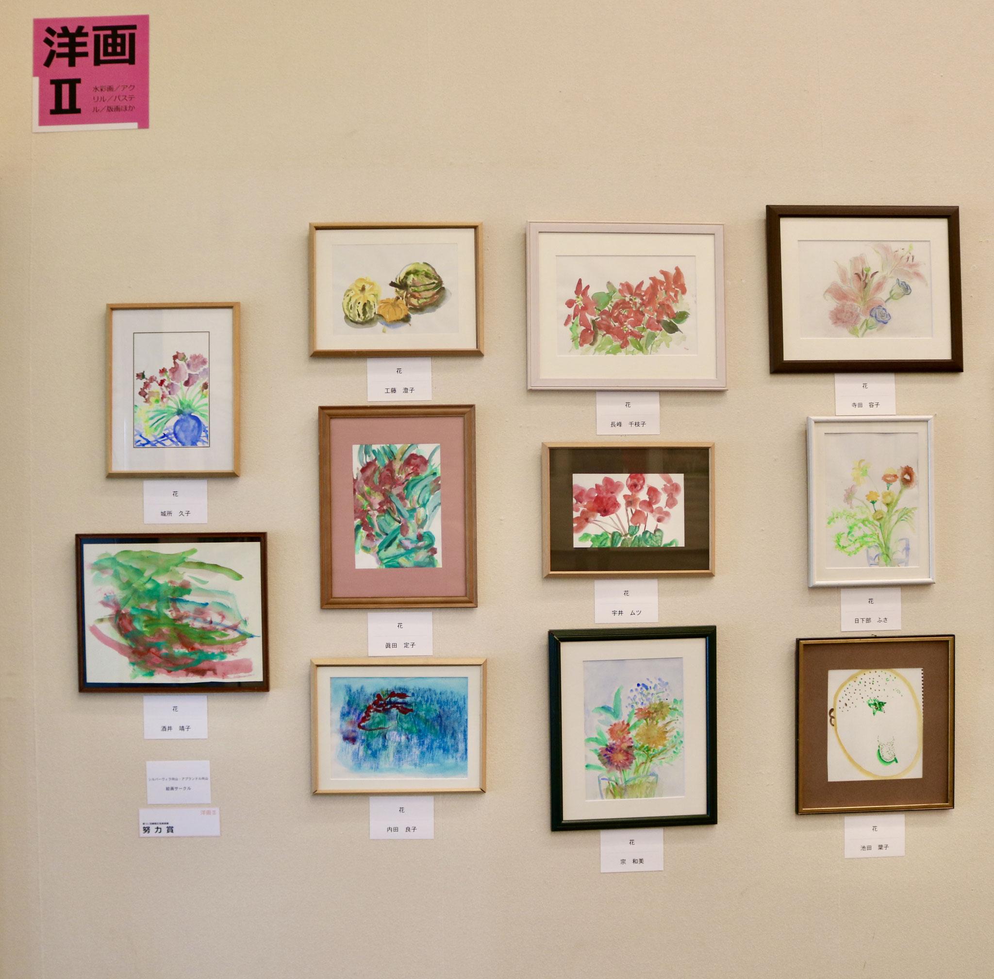 絵画教室の作品