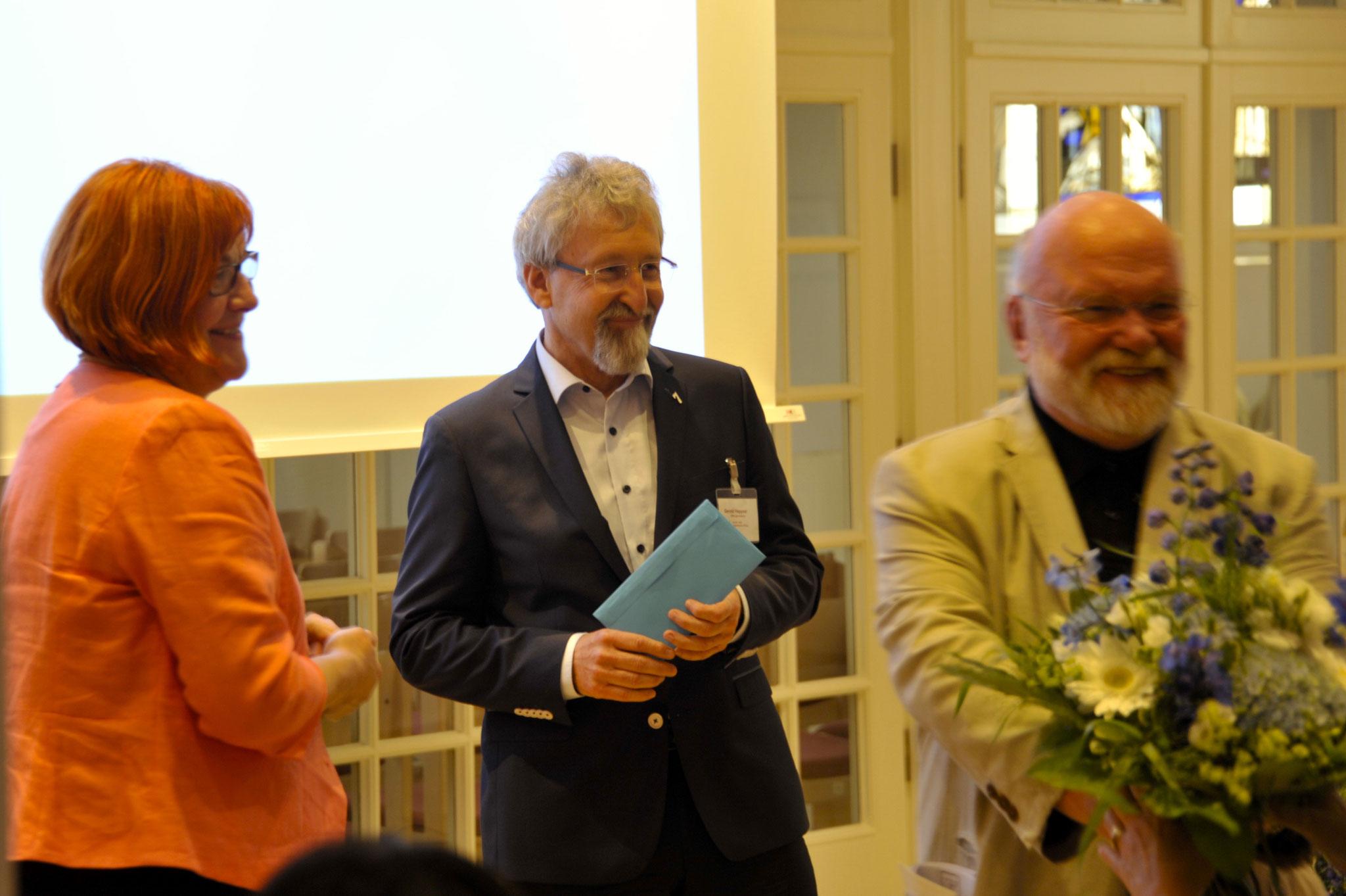 Die Stiftungsvorsteher: Gunda Pollok-Jabbi, Gerold Heppner, Reinhold Fahlbusch