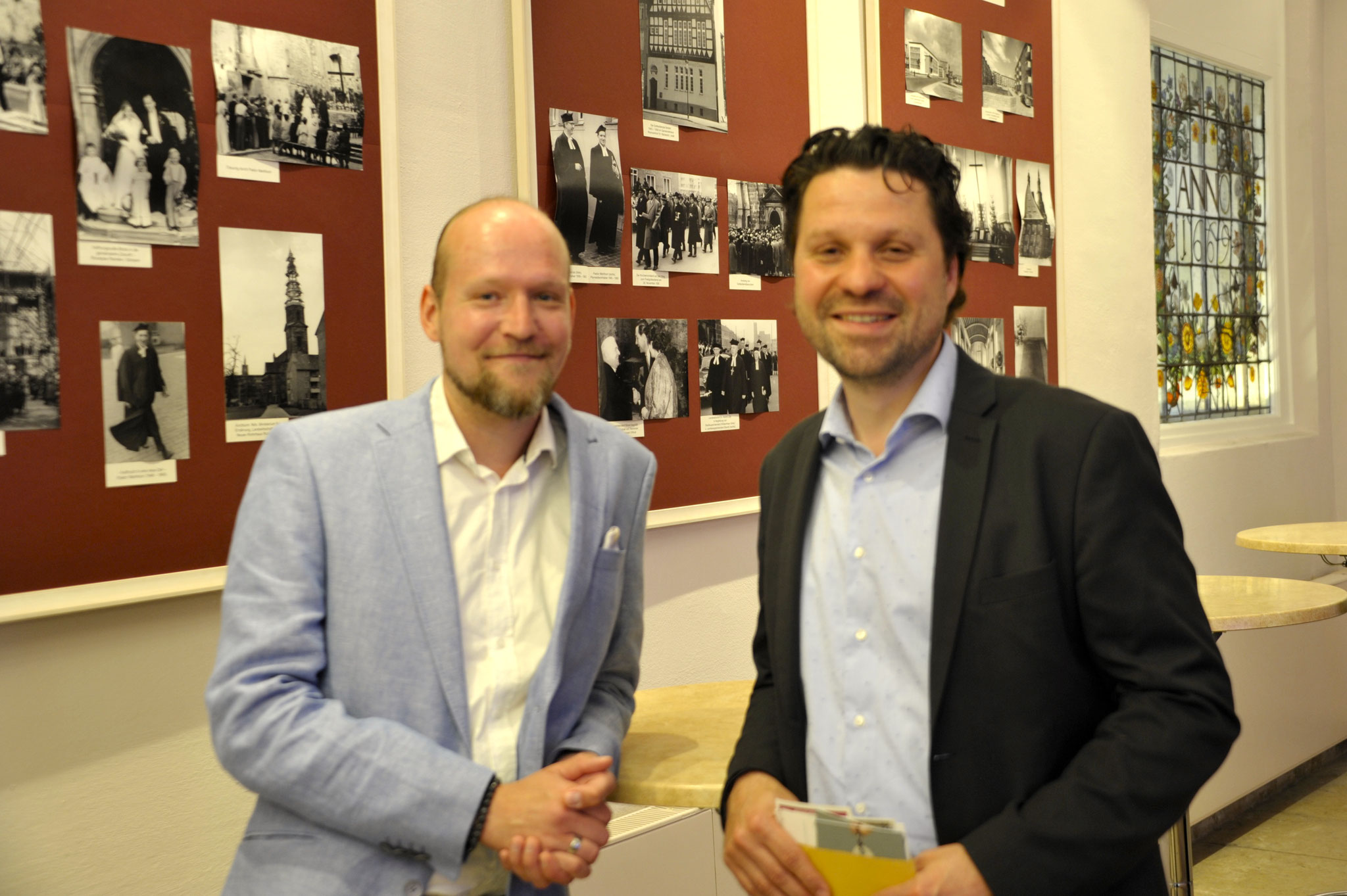 vl: Phillip Schmalstieg, Büro Jasmin Fahimi MdB und Alptekin Kirci MdL, Stadtverbandsvorsitzender der SPD