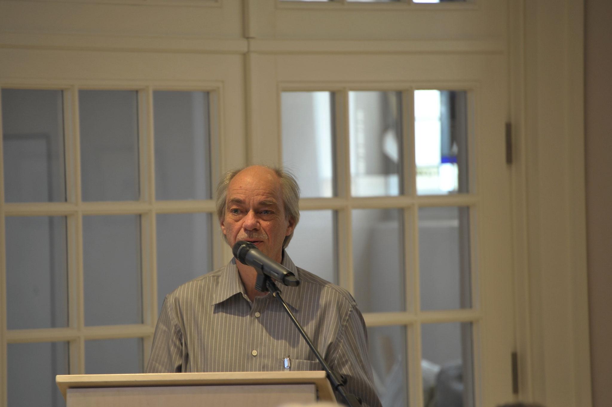 Laudator Jürgen Honsbrock, Haustechniker der Stiftung