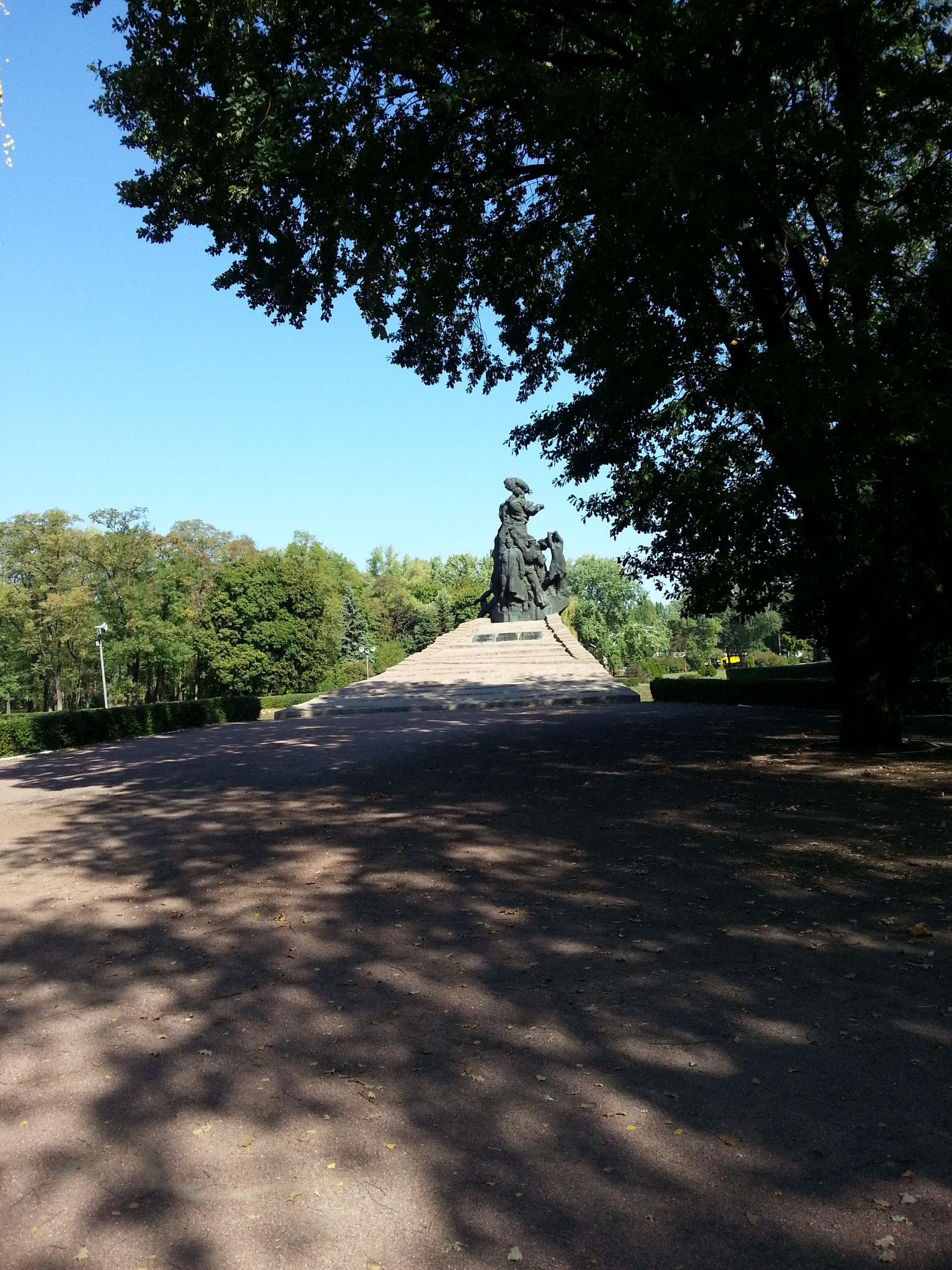 Annaäherung an das sowjetische Denkmal