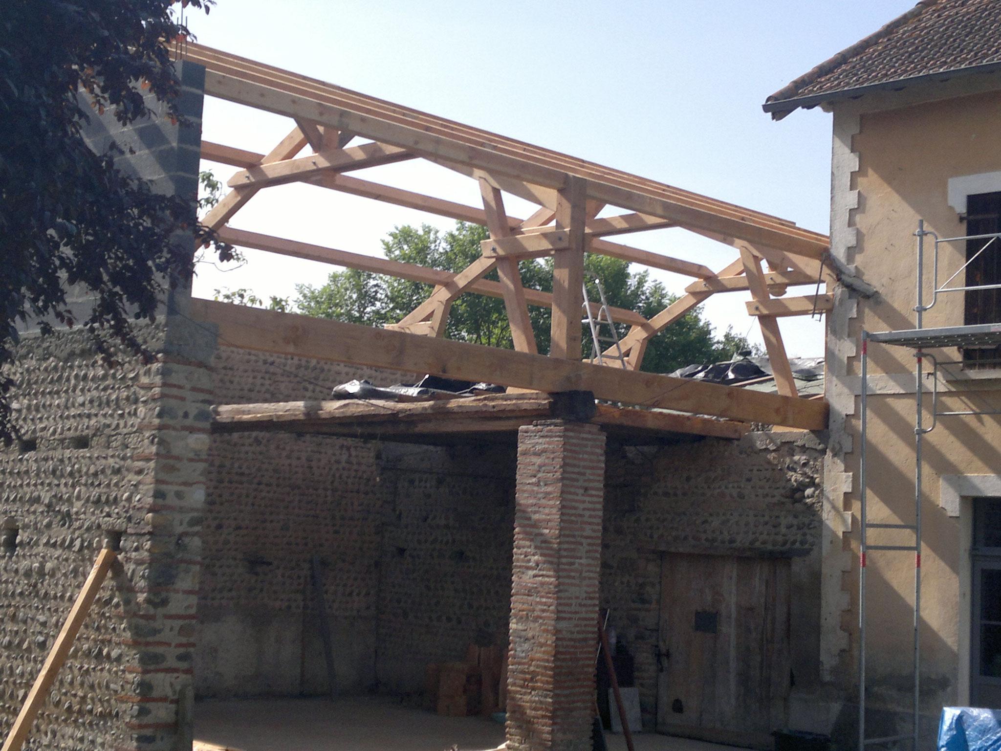 Réhabilitation grange charpente bois
