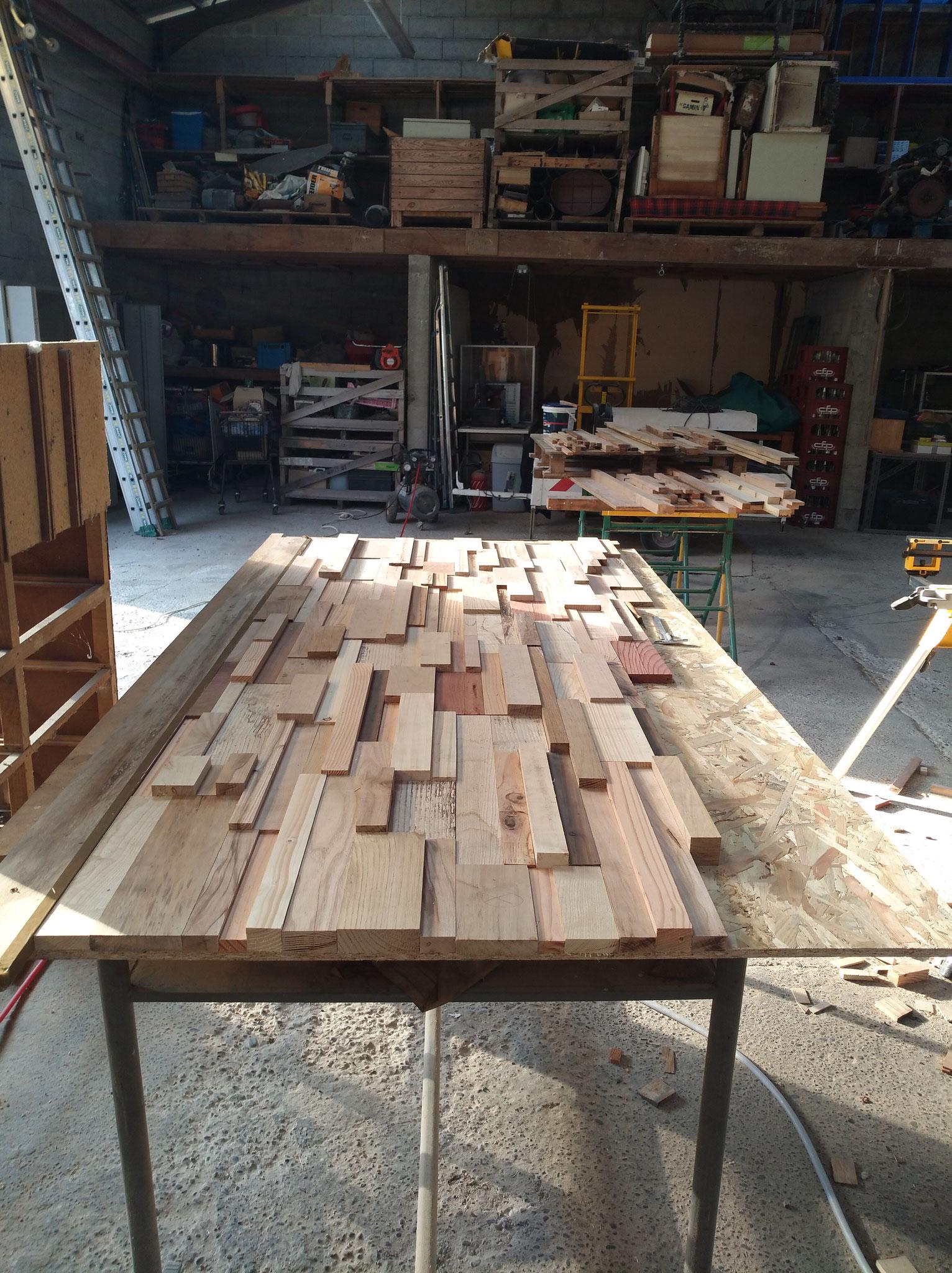 Panneaux habillage mural scrapwood