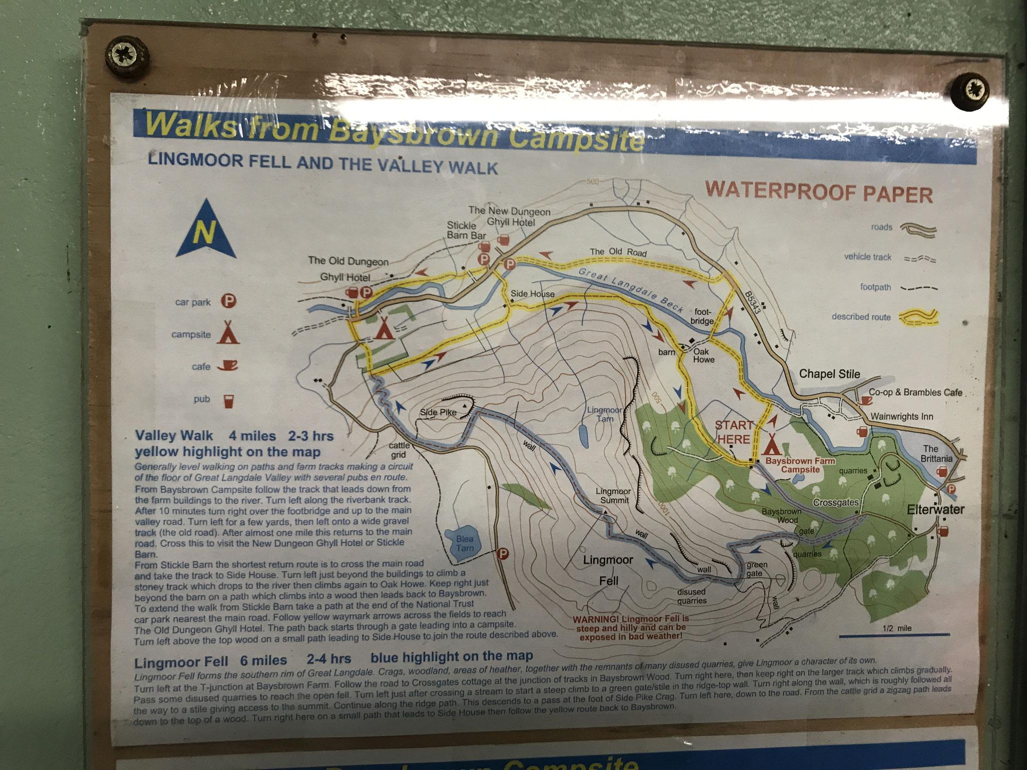 unsere Wanderroute durch den Lake District