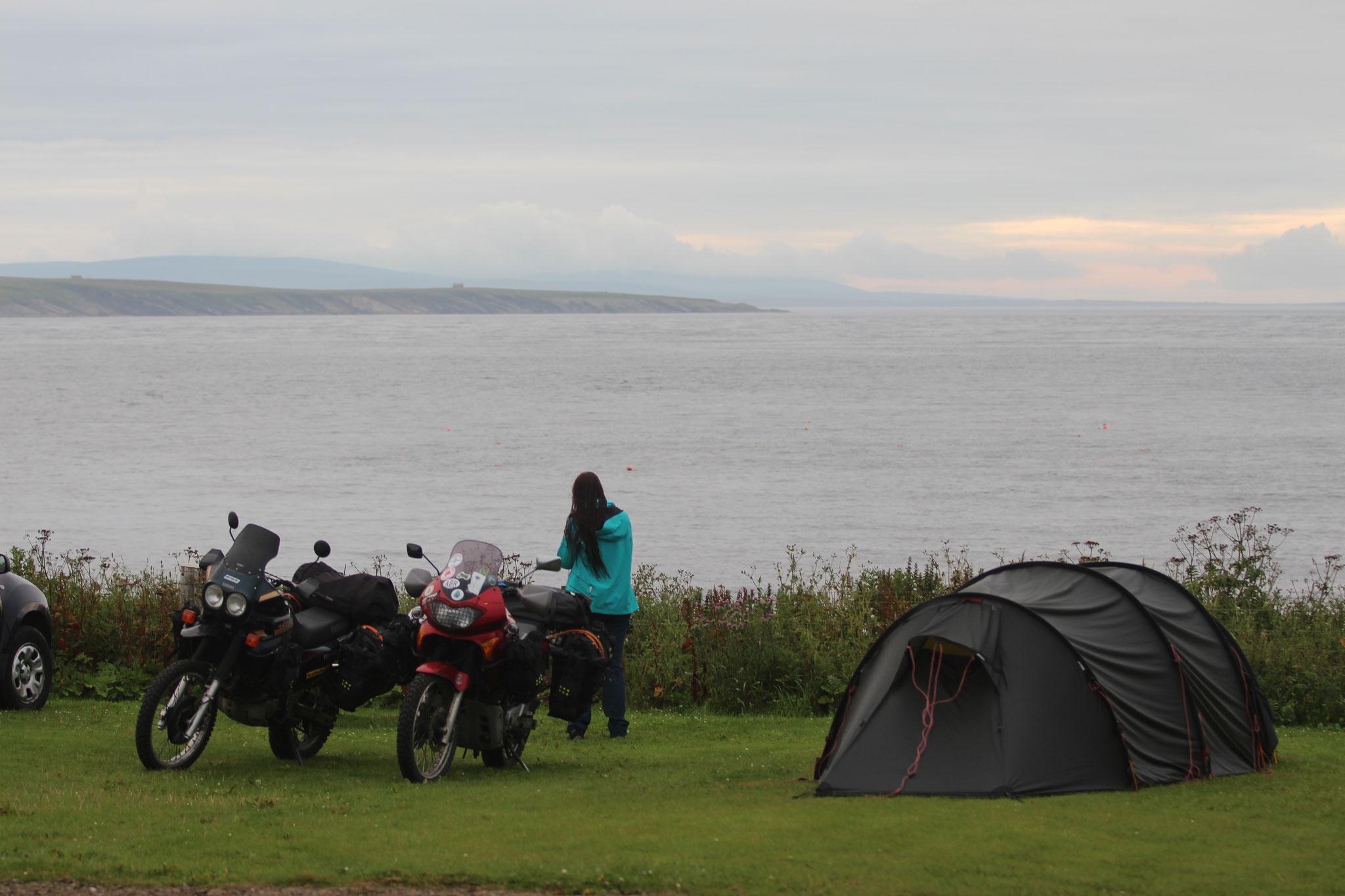 Camping in John O'Groats