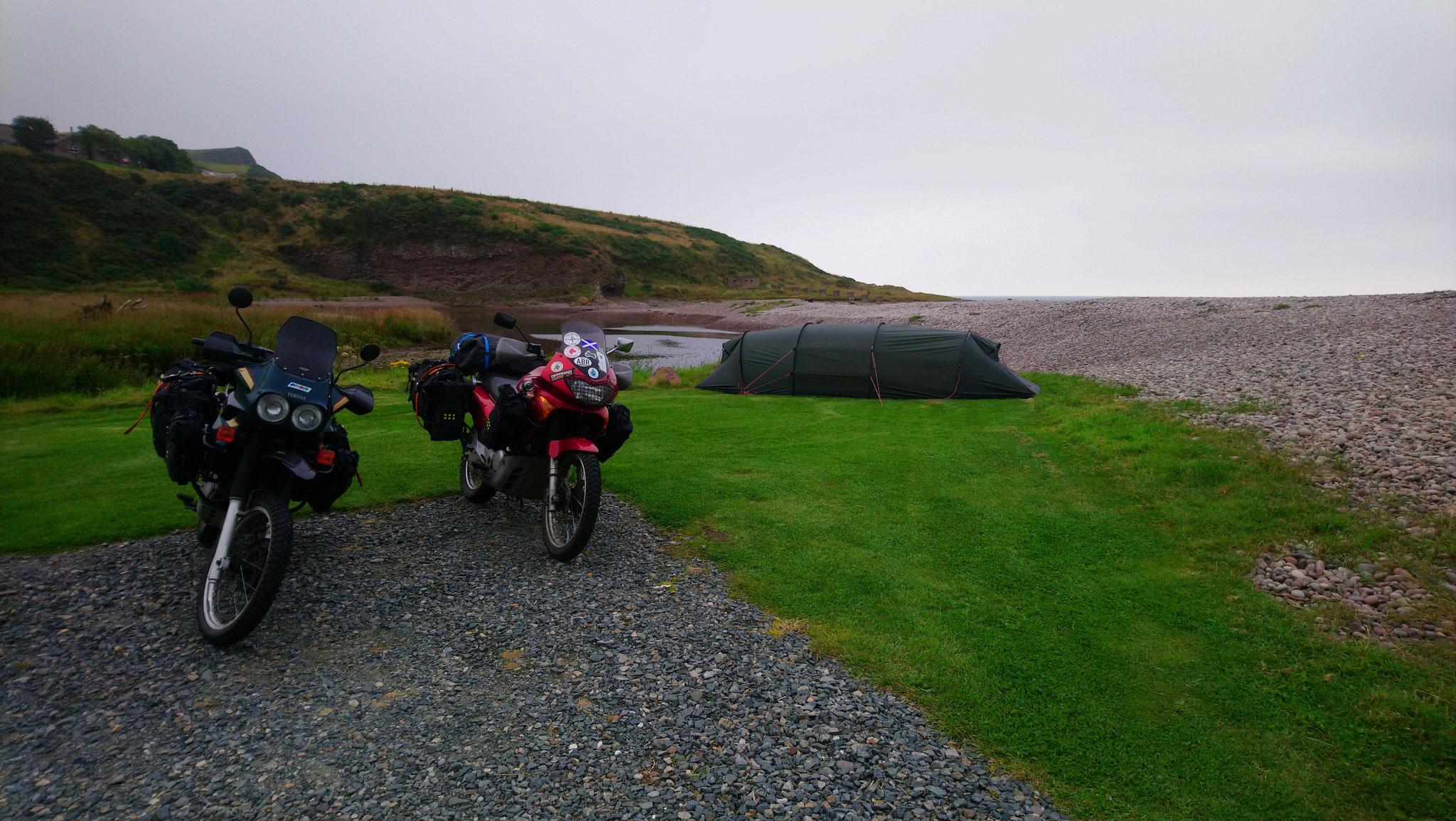 letztes Campen am Wasser in Inverbervie