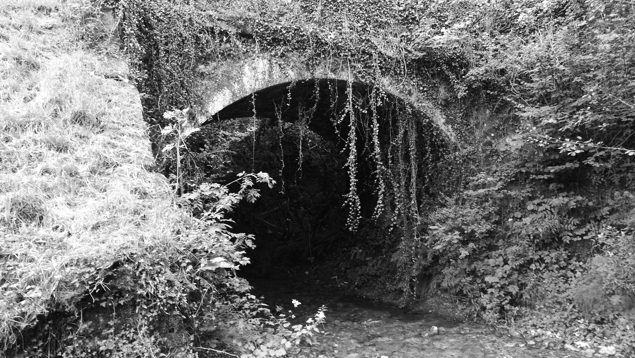 Ancien pont sur la Berte, ruisseau de village