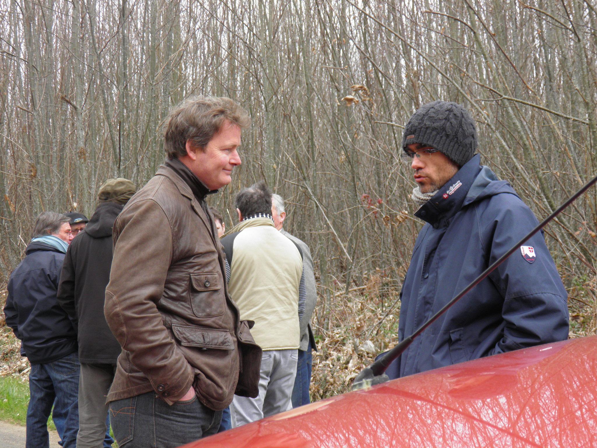 Vincent LIGER du Grand Cahors en charge de la filière Bois avec Arnaud DUPREZ, artisan designer