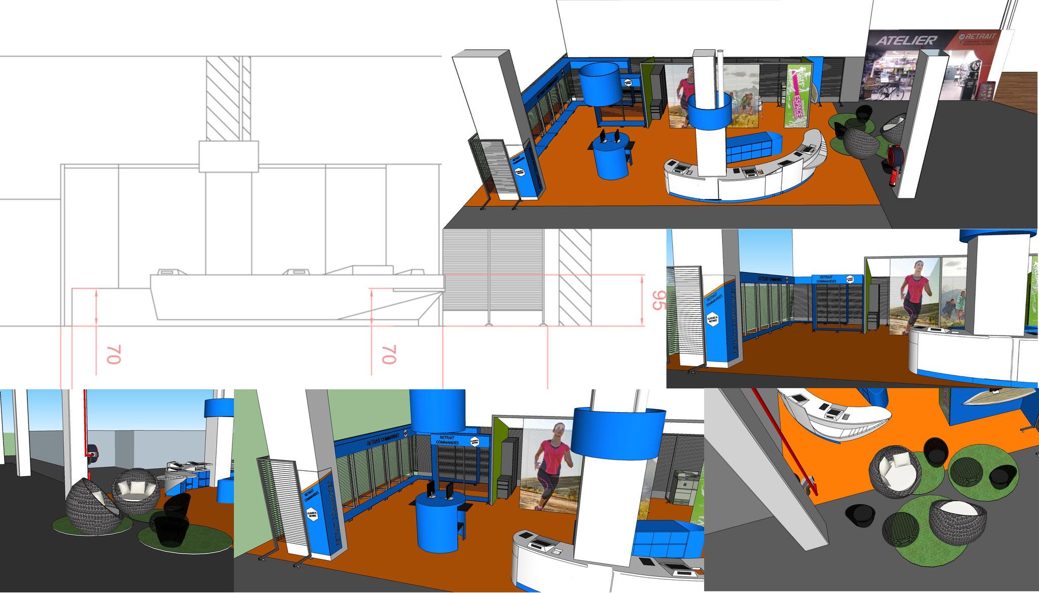 Conception banque d'accueil / Ergonomie au travail