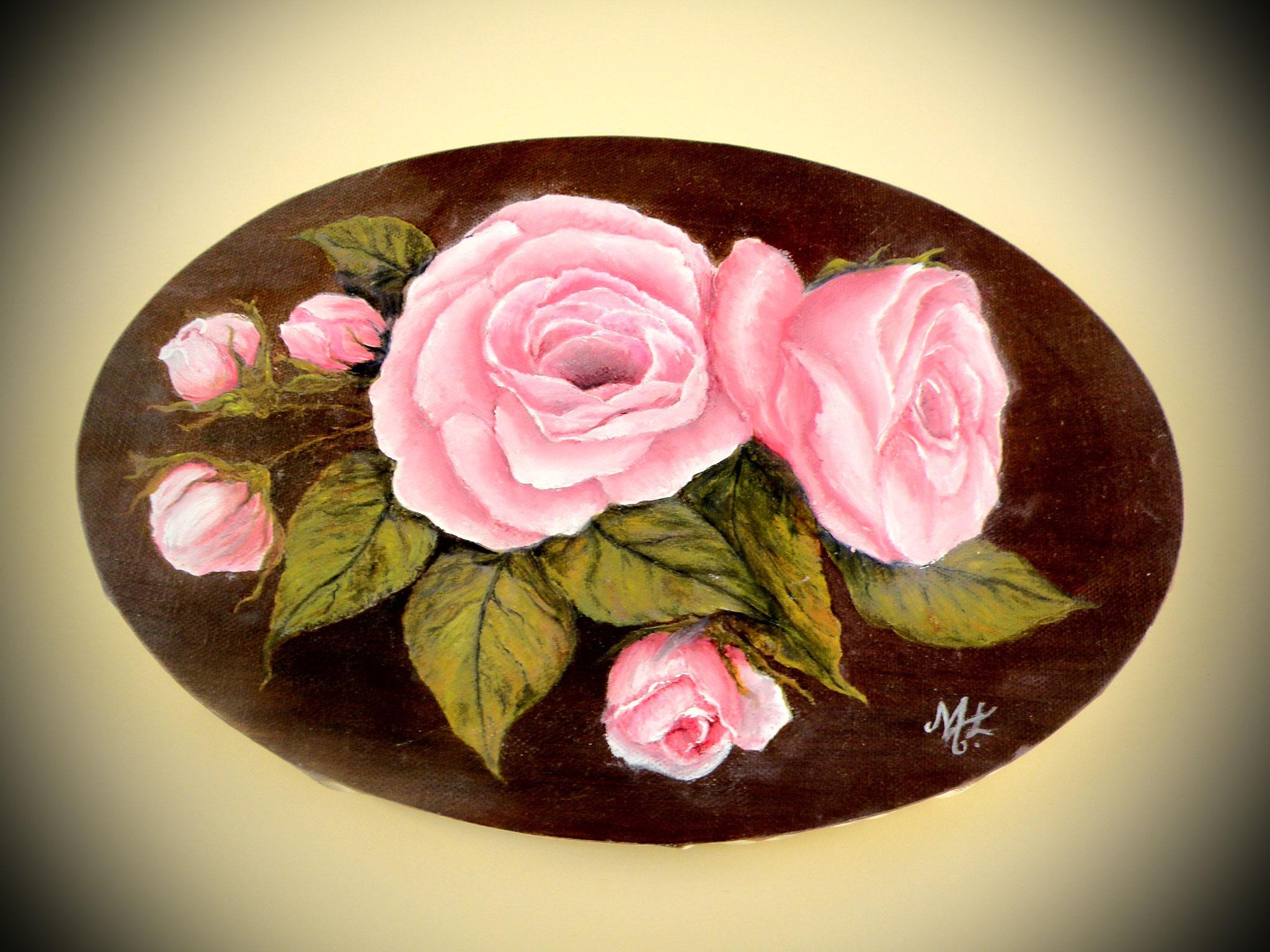 Marie Roses à l'huile