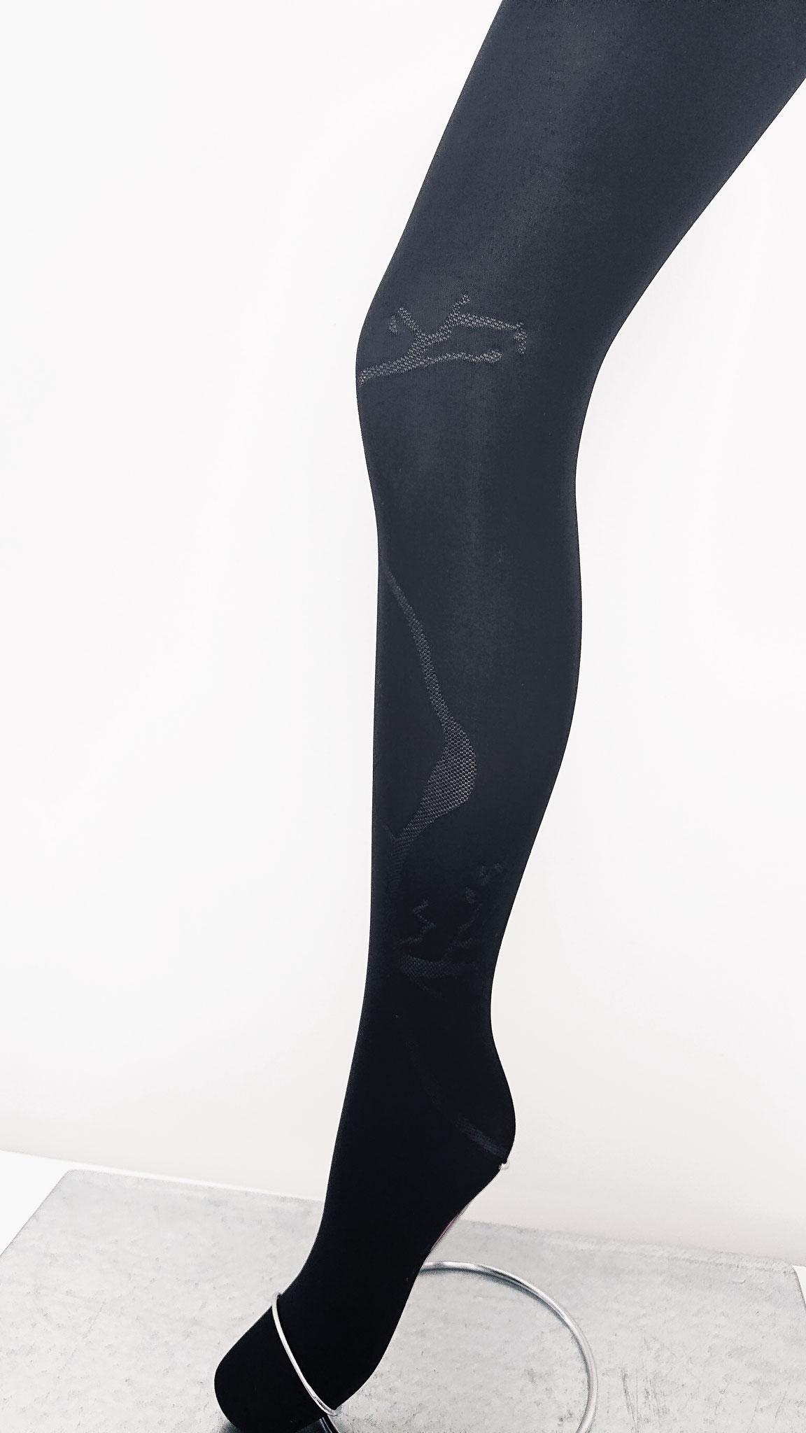 Strumpfhosen Uni mit transparentem Muster 40 DEN  (CHF 47.-)