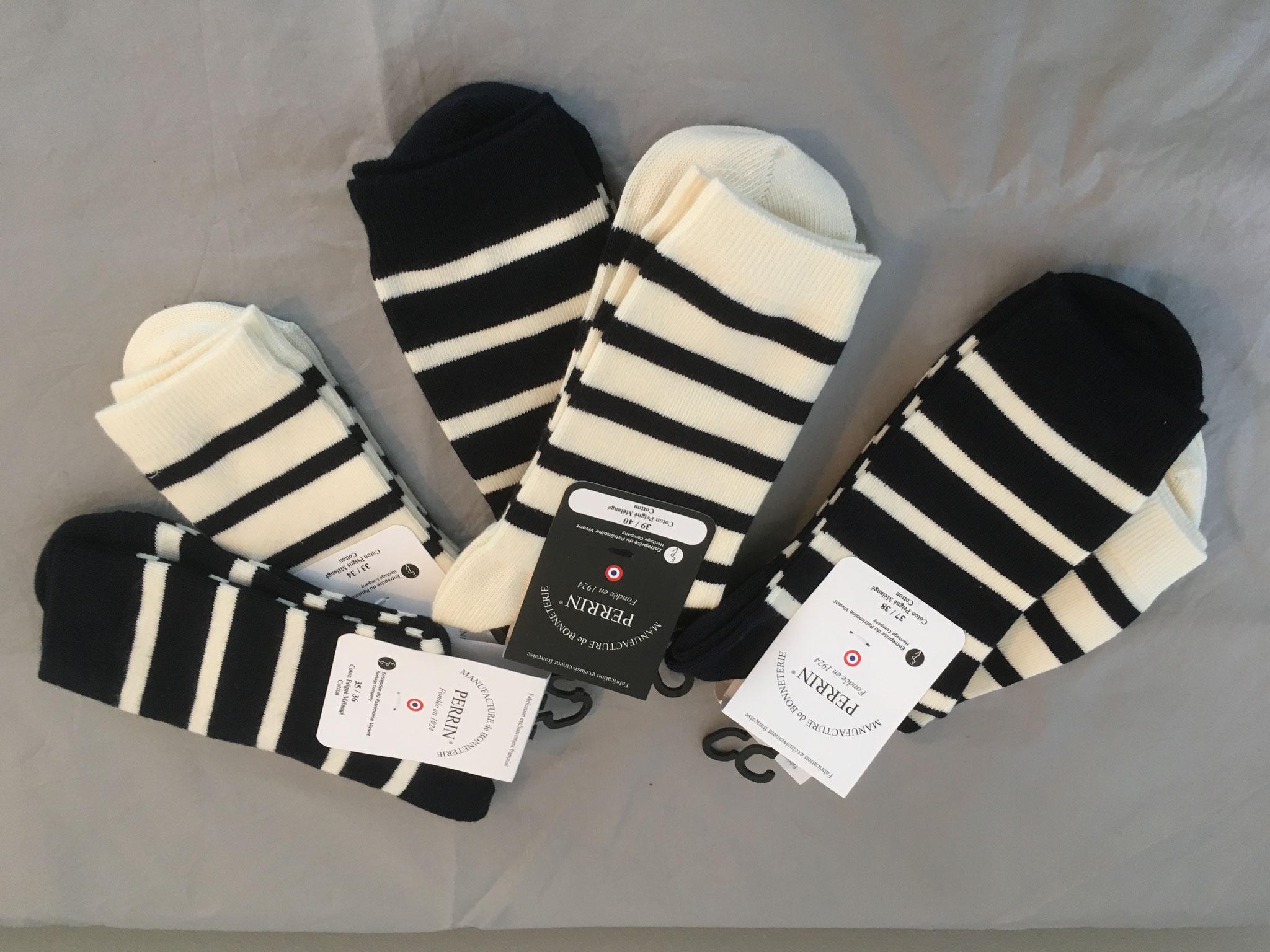 Topmodische Socken im Bretagnelook (CHF 16.00/18.00 je nach Grösse) ab Gr. 31-44