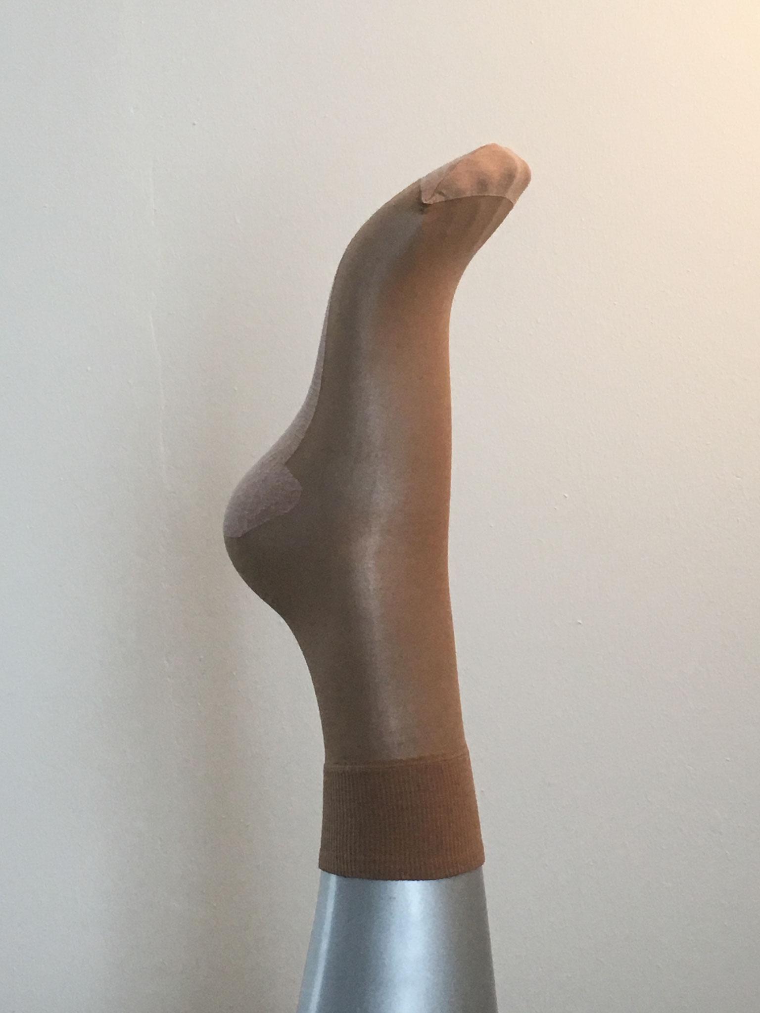 Strumpfsöckli mit verstärkter Baumwollsohle  transparent und schwarz erhältlich (CHF 12.00)