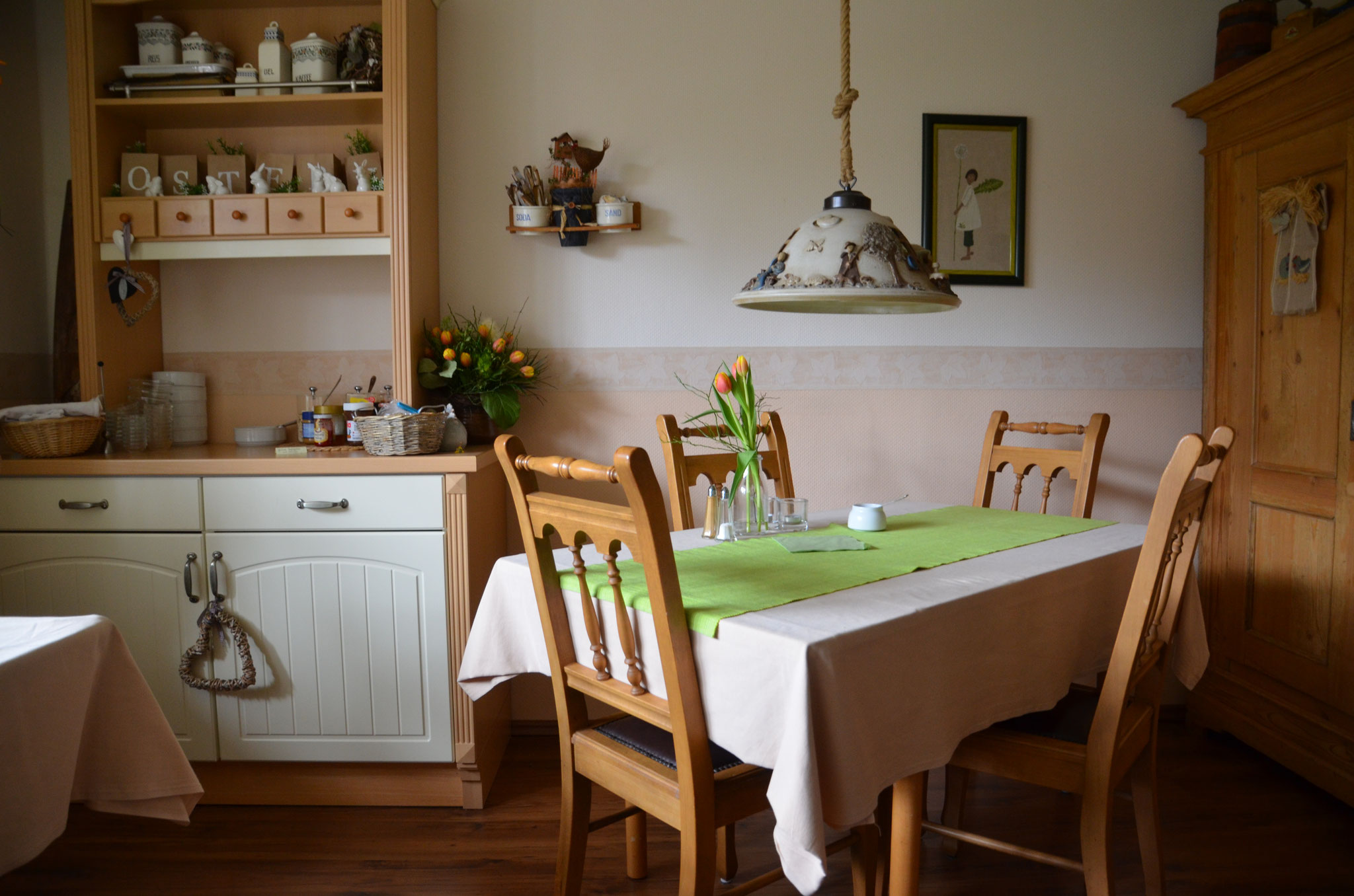 Der Frühstücksraum.