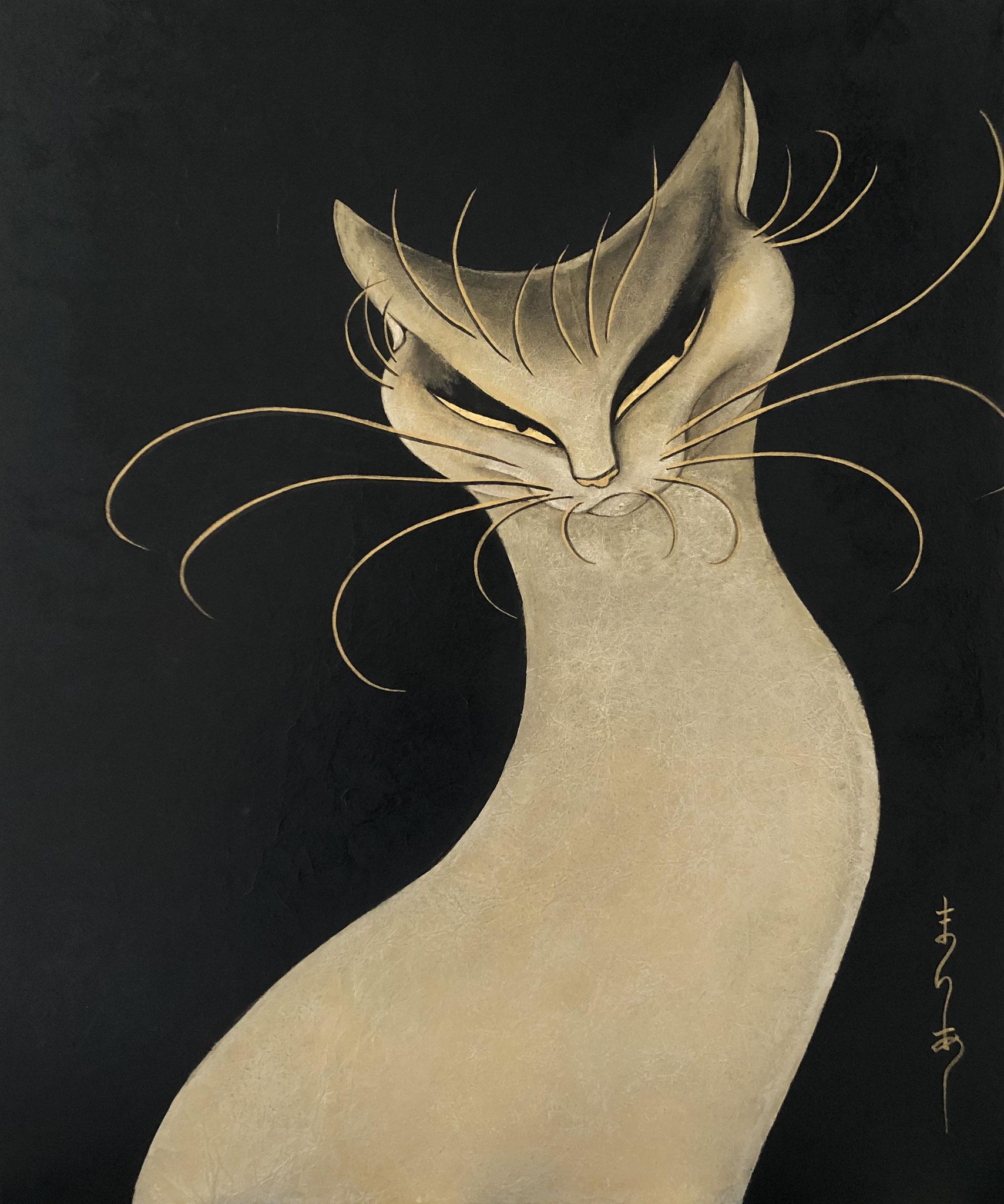 「プライド」 日本画 F20号(72.7×60.6cm)