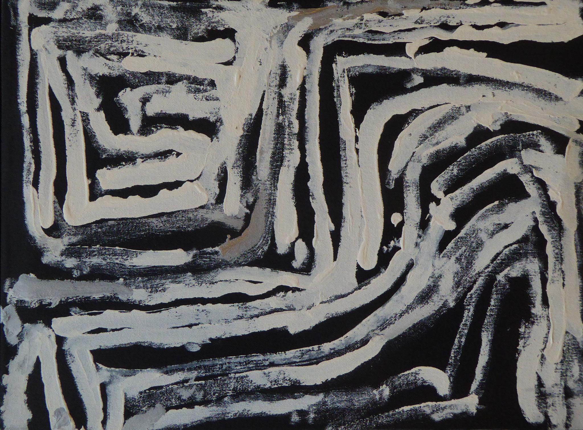 ネヴィル・マッカーサー  「男の儀式」 35x50cm