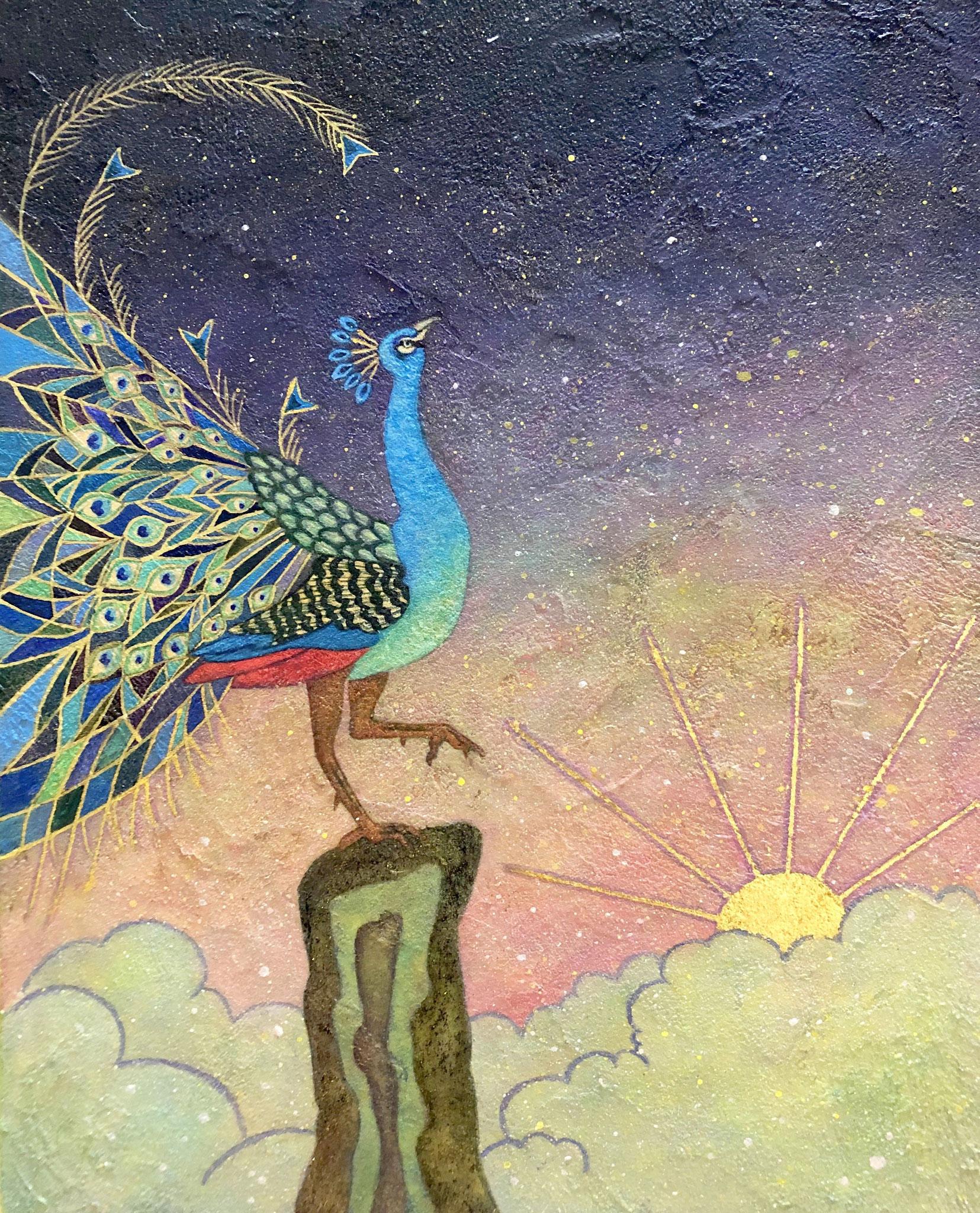 「常寂光土」 F3号 雲母壁面画