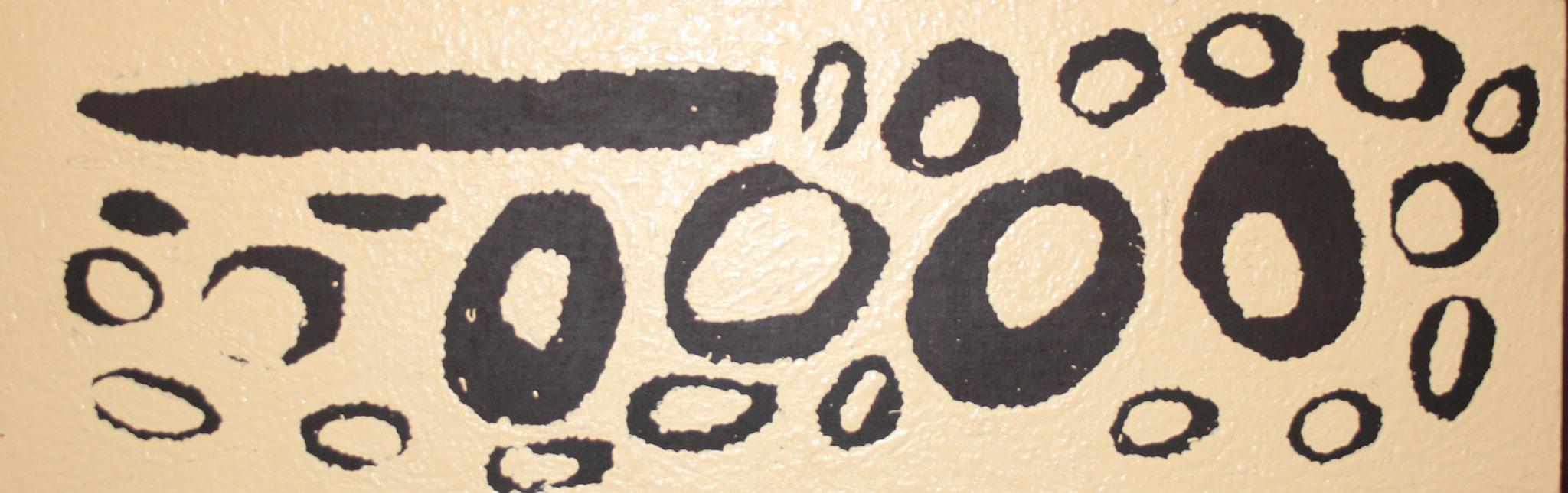 ウィンチャ・ナパチャリ 「女性の旅物語」 33x92cm