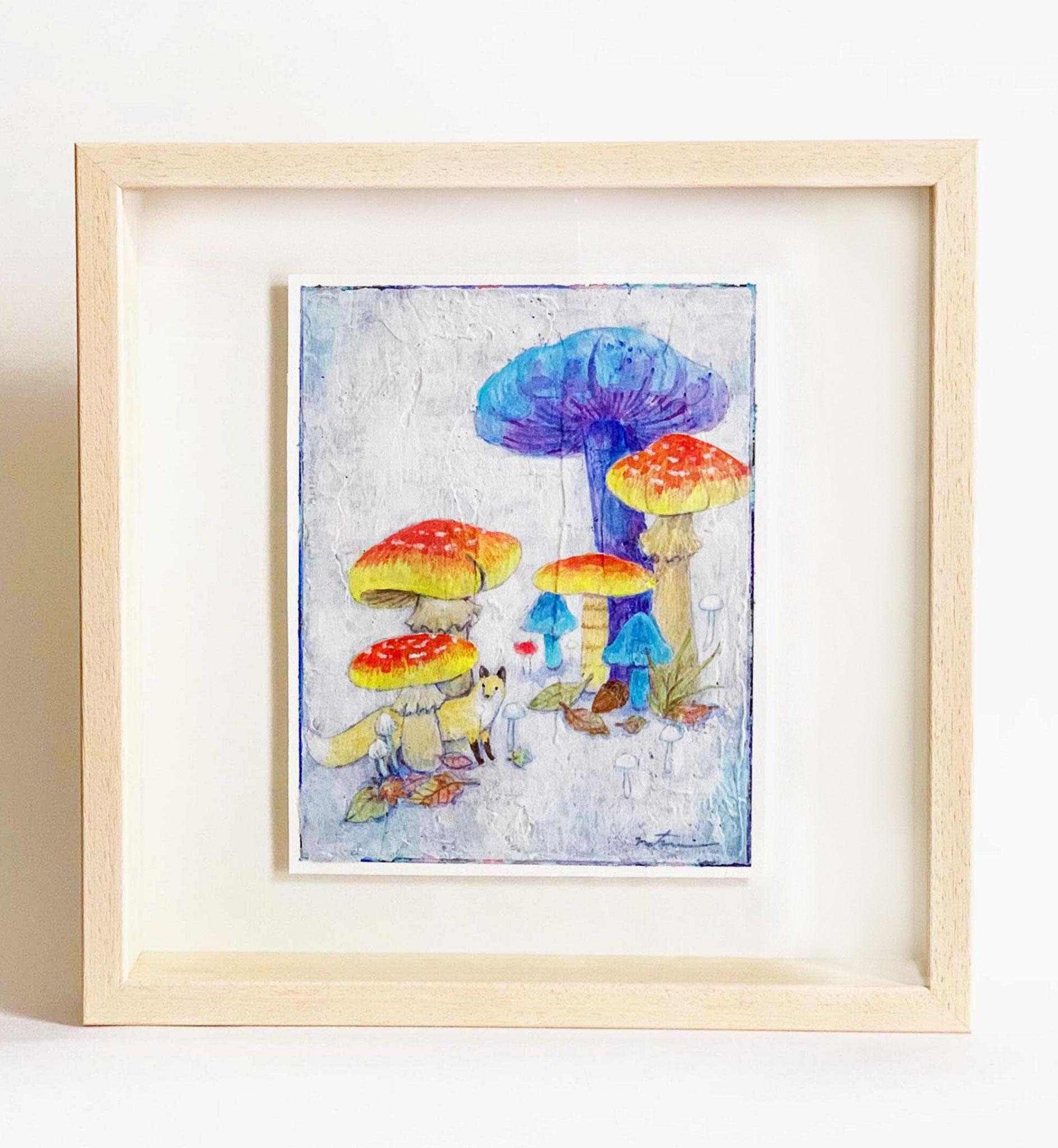 「キノコの森 I」 水彩画  180×140mm
