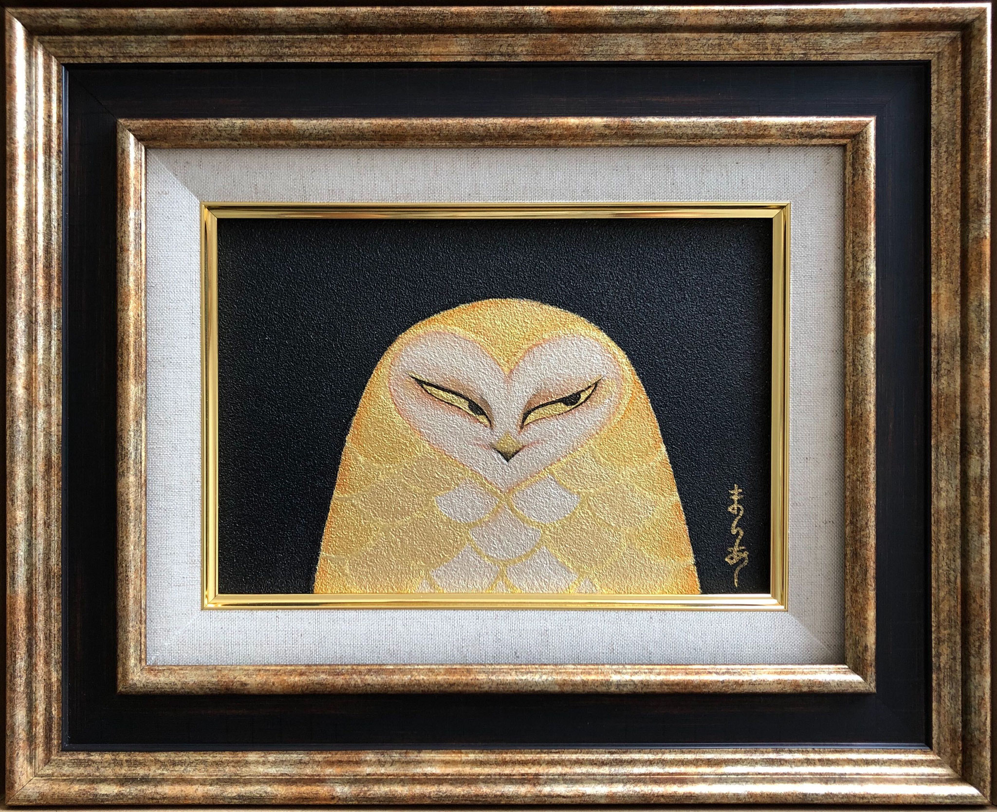 月の鳥Ⅰ 日本画 SM ¥110,000(税別)