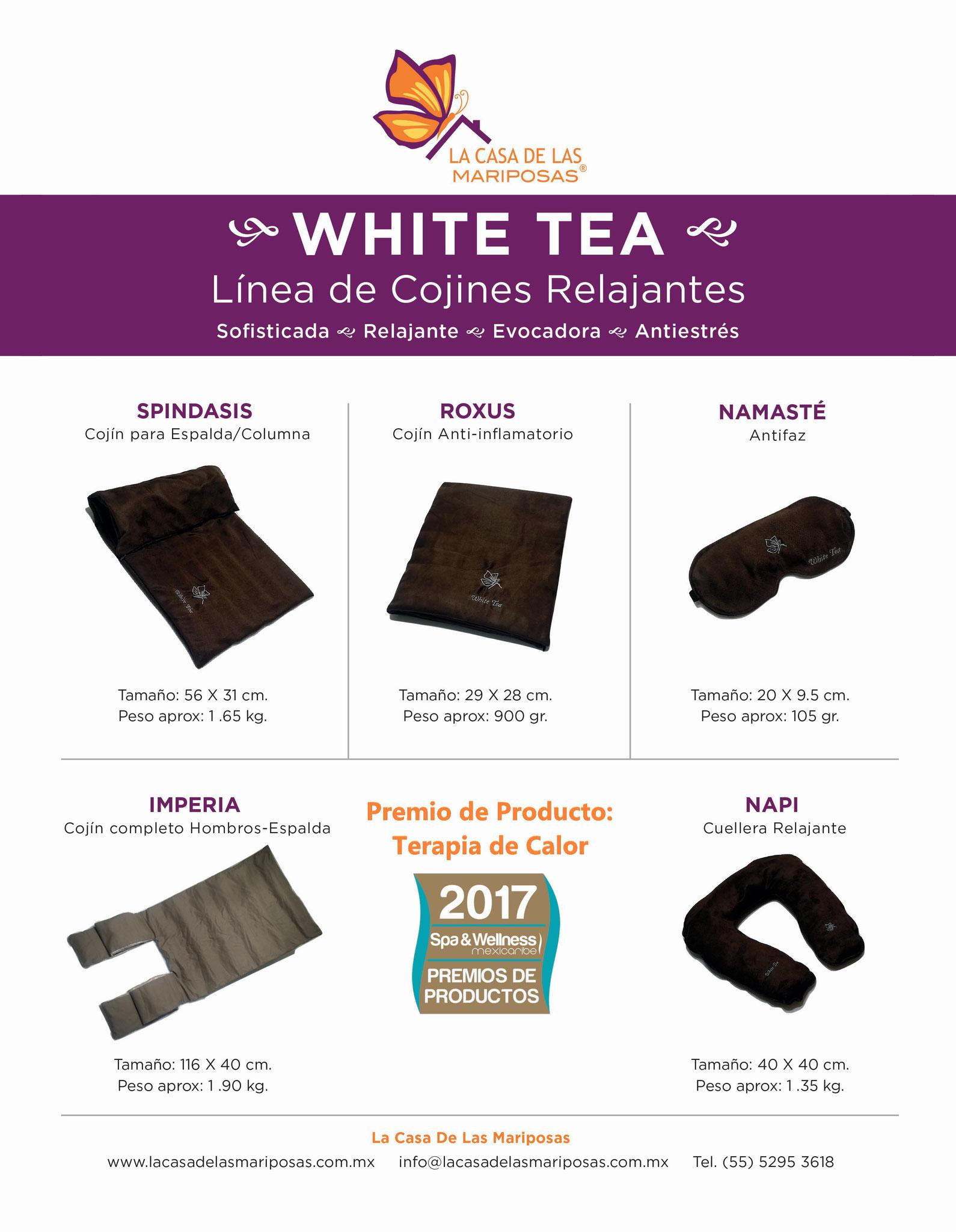 Seguimos Mejorando Para Tí. Nuestra Línea de Cojines Relajantes WHITE TEA fue premiada por la MEJOR TERAPIA DE CALOR