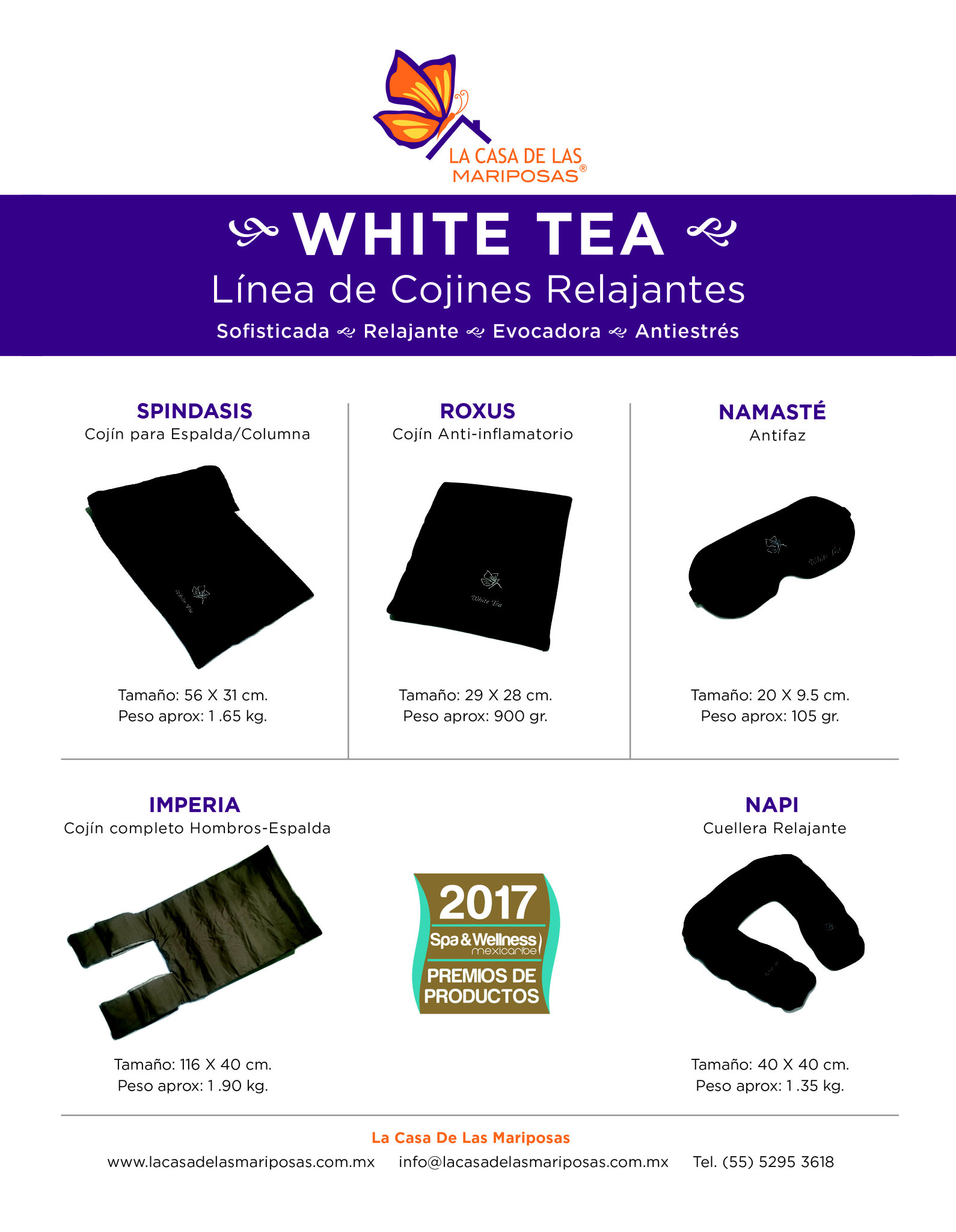 Premio Spa&Wellness MexCar 2017 a nuestra Línea White Tea
