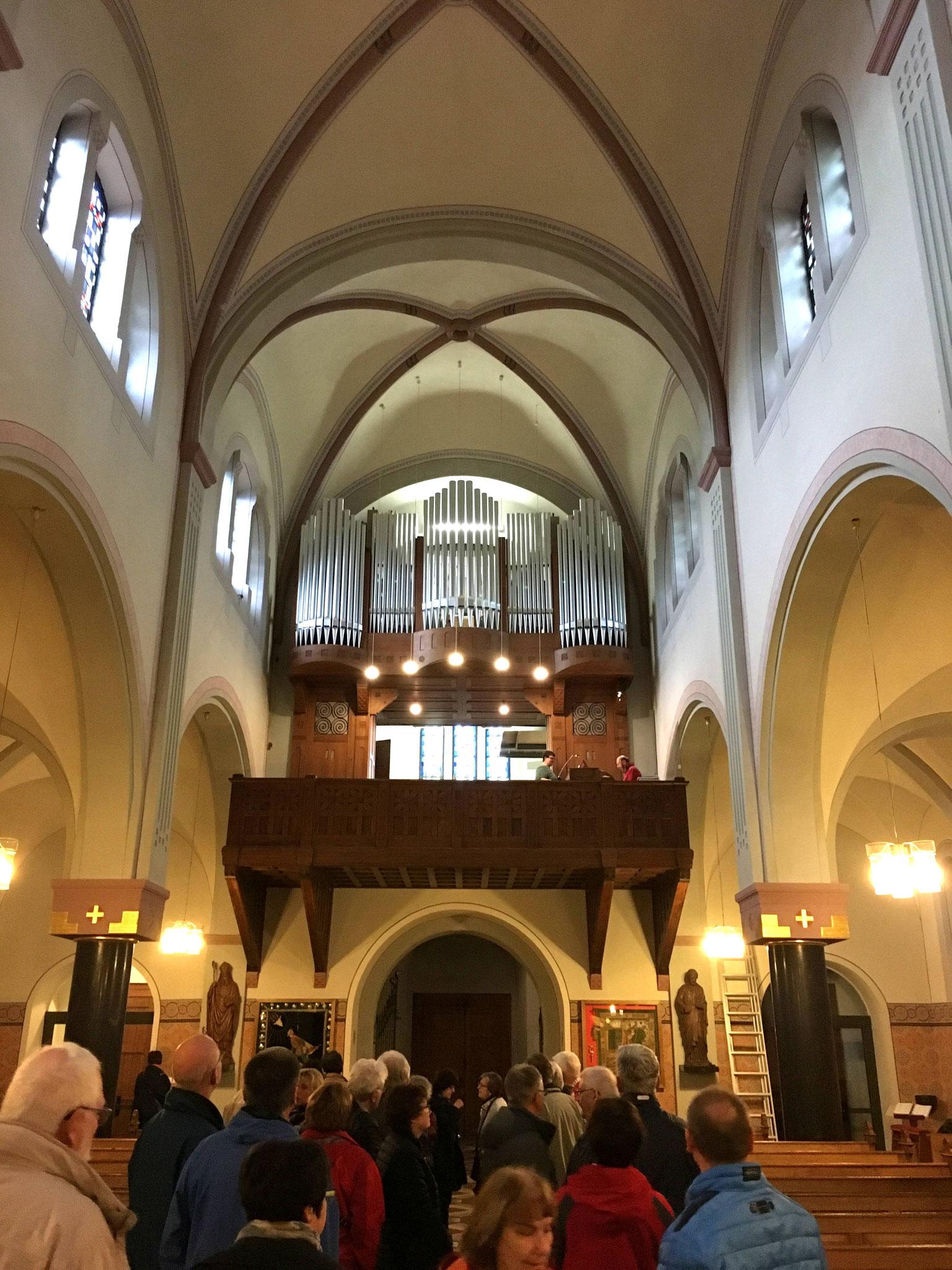 Die frisch restaurierte Orgel in Eschweiler-Bergrath.