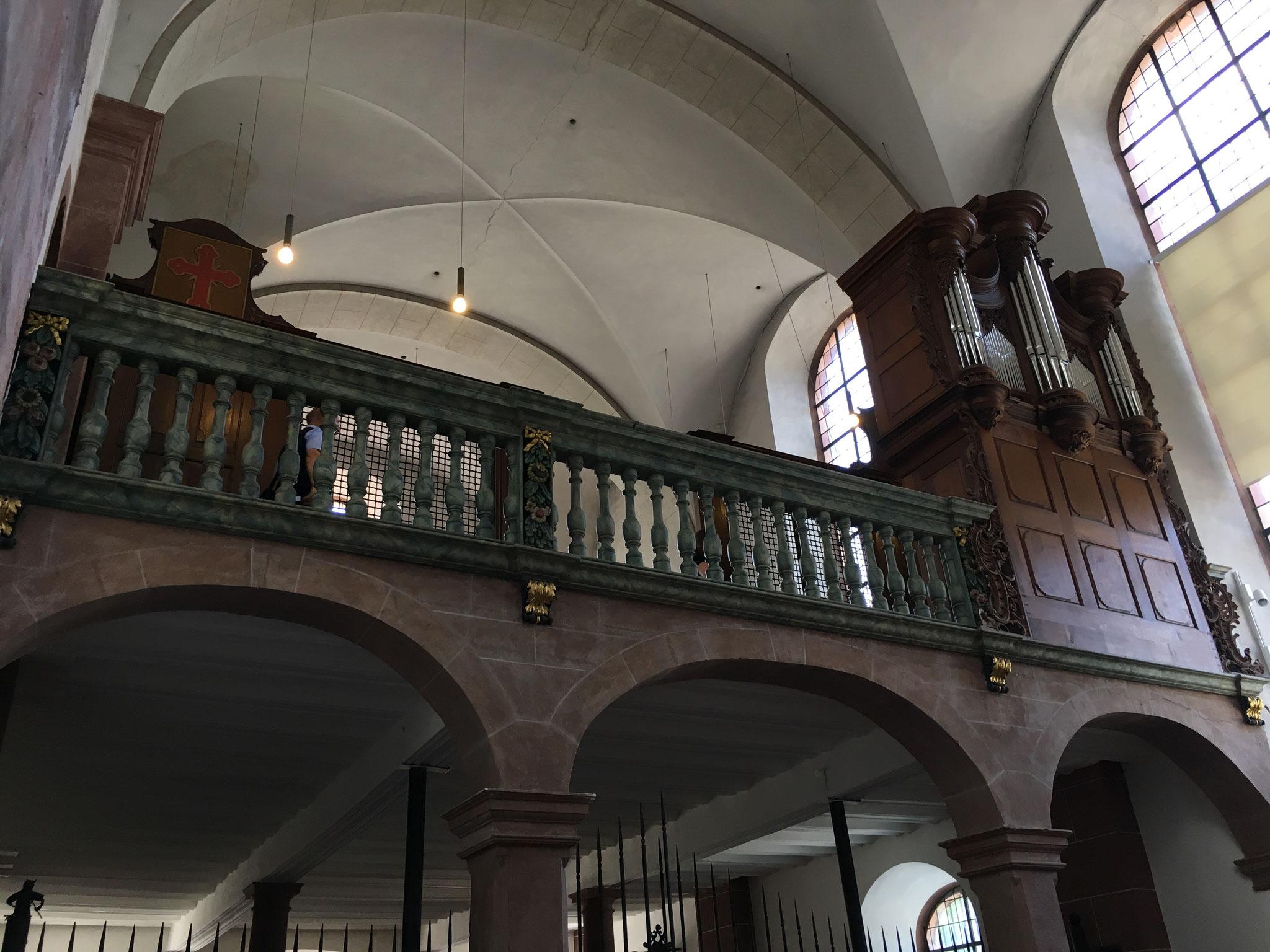 Die Barockorgel in der Welschnonnenkirche.