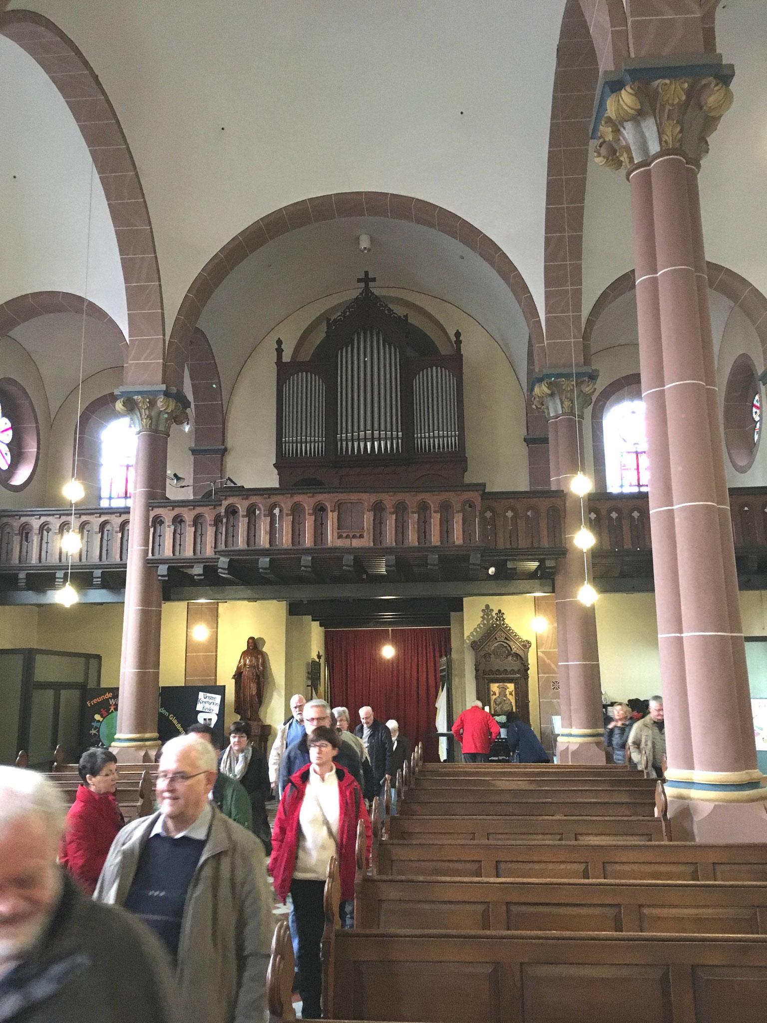 Die restaurierte Orgel in Eschweiler-Hastenrath.