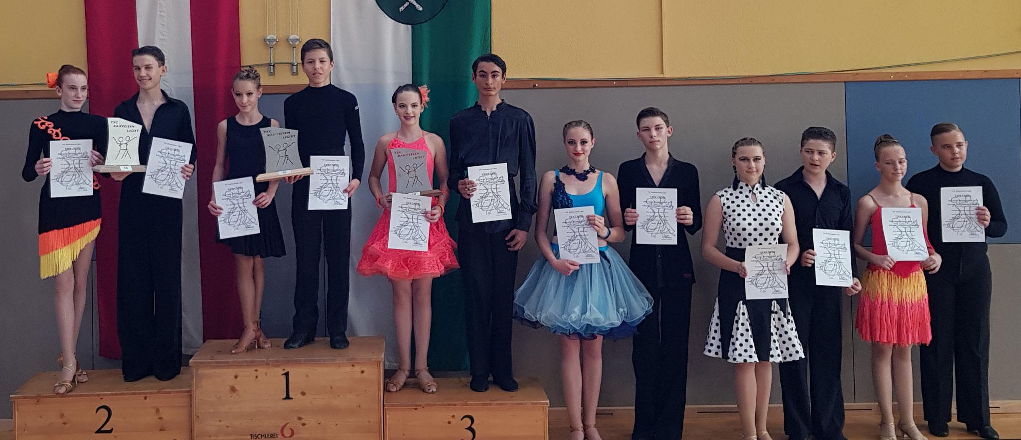 Junioren II Latein D - 1. Bedendek Darffy/Lili Kovacs - Gala Te (Ungarn)