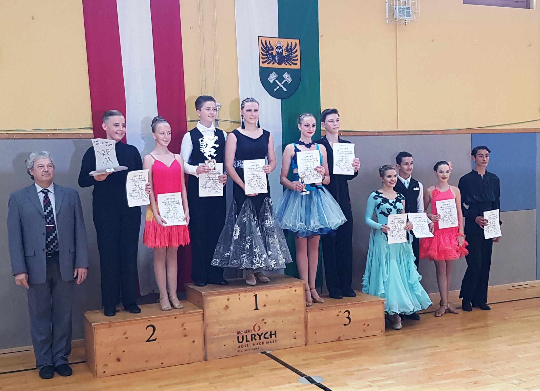 Junioren Standard D - 1. Vincent Grabenhofer/Caroline Grabenhofer - TSC Burghof Voitsberg