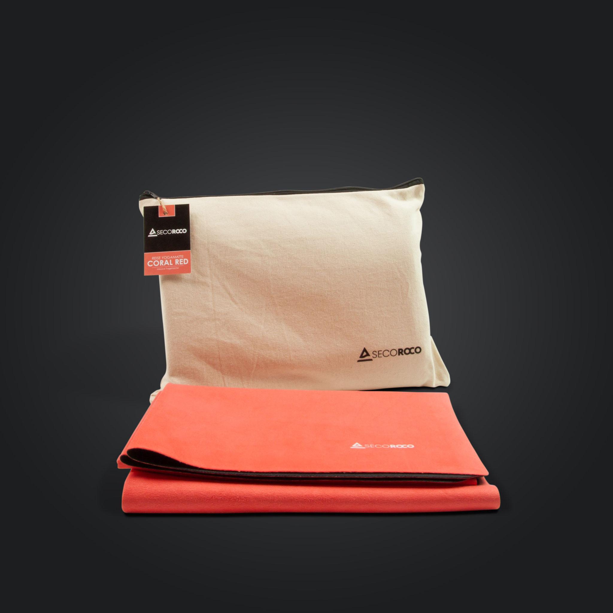 Reise Yogamatte - Coral Red - Stylischer Auftritt!