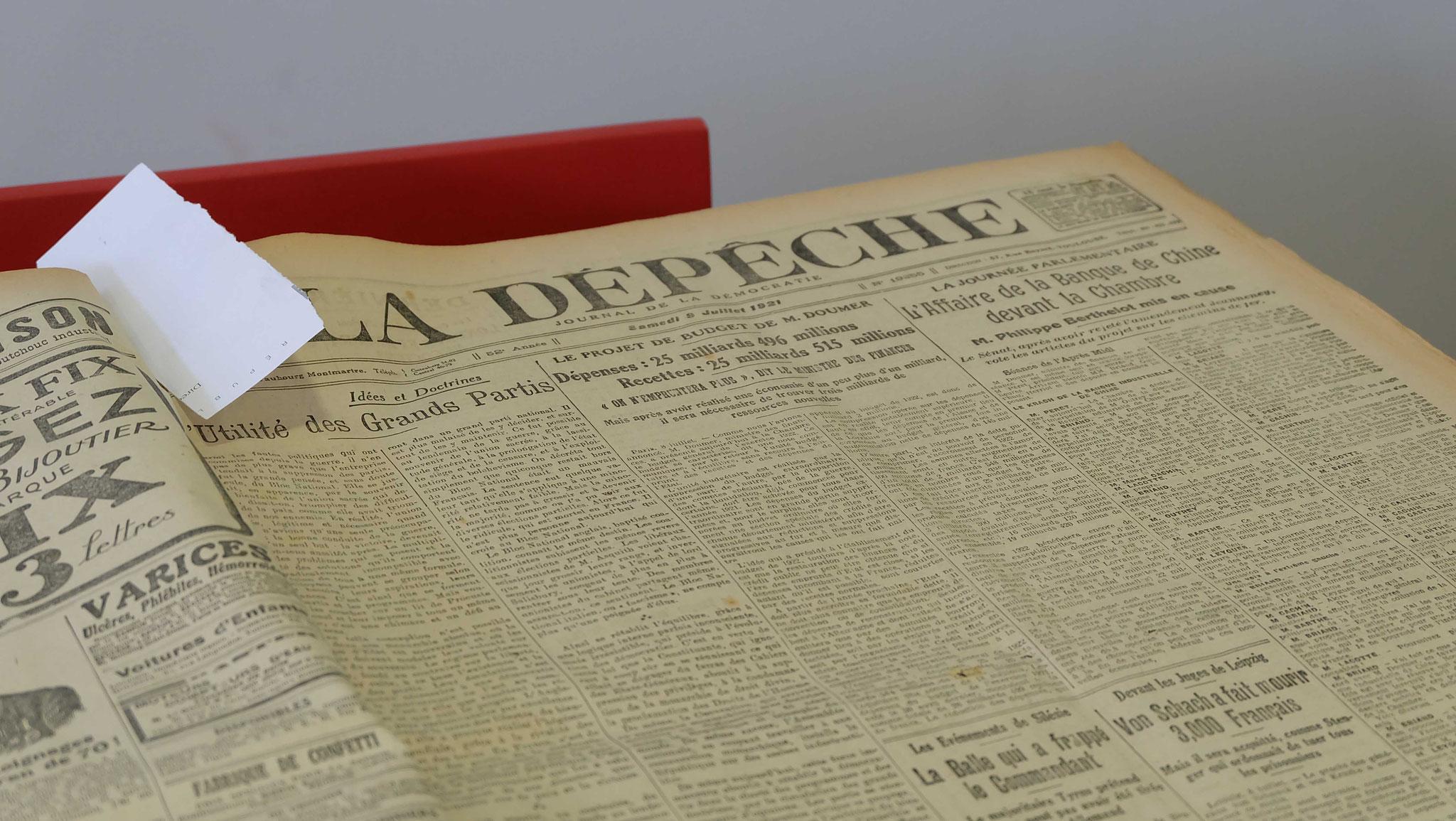 les actualités du début du 20ème siècle, il y a cent ans jour pour jour,