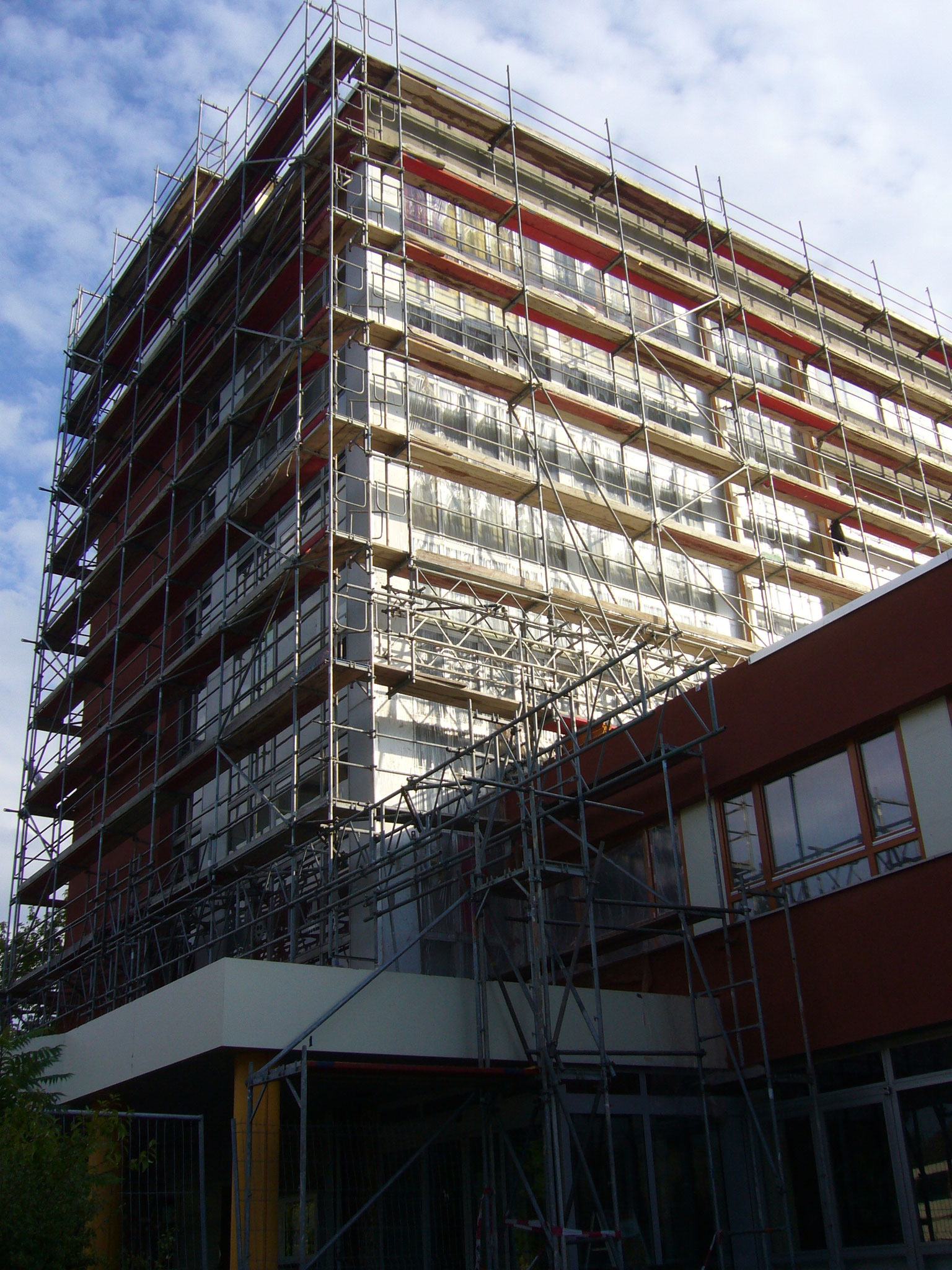 Gesundheitszentrum Teltow ca. 4000m² Fassadengerüst Lastklasse 3