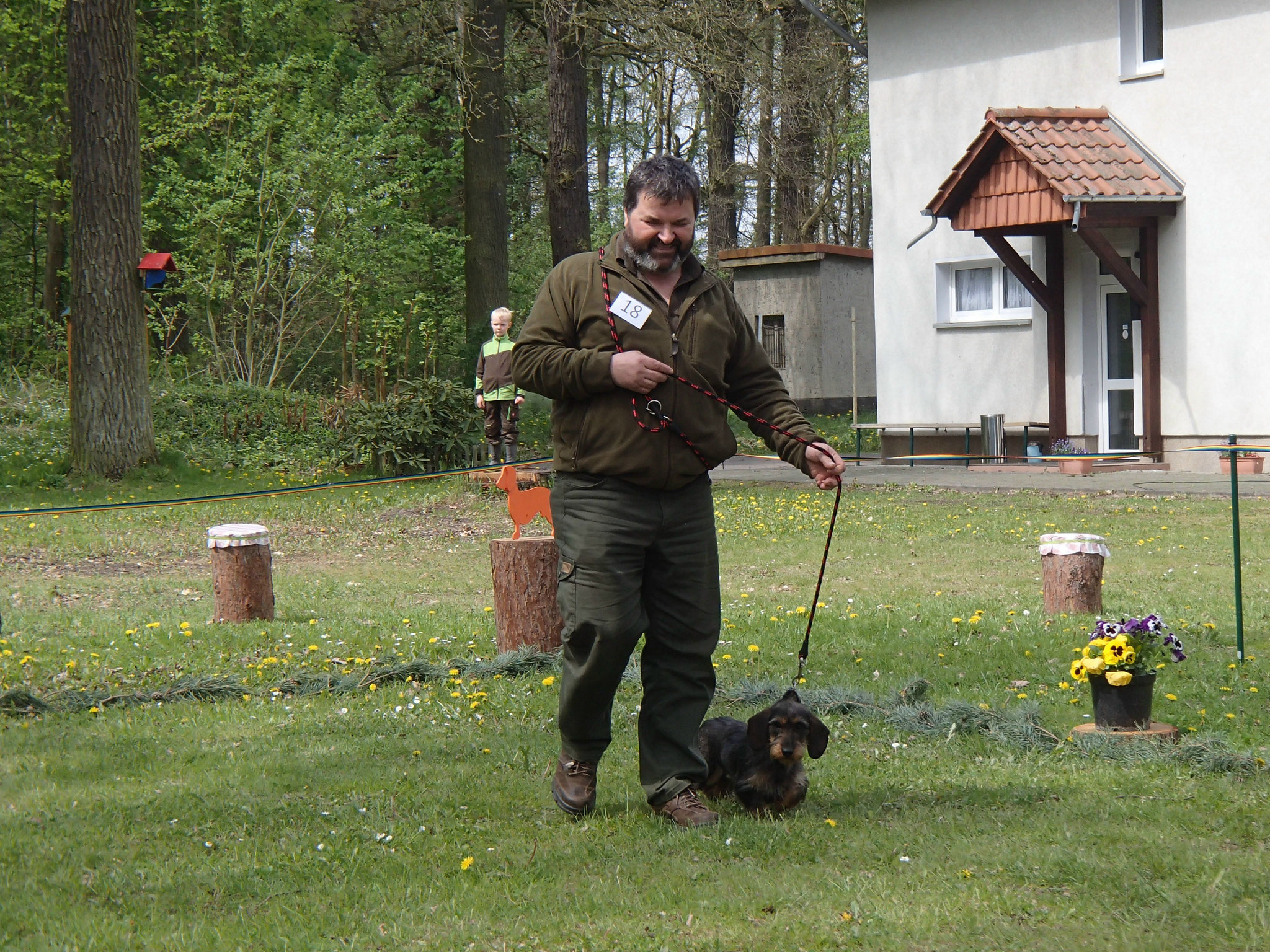 Frank Frauböse mit Betti vom Glienecker Teich