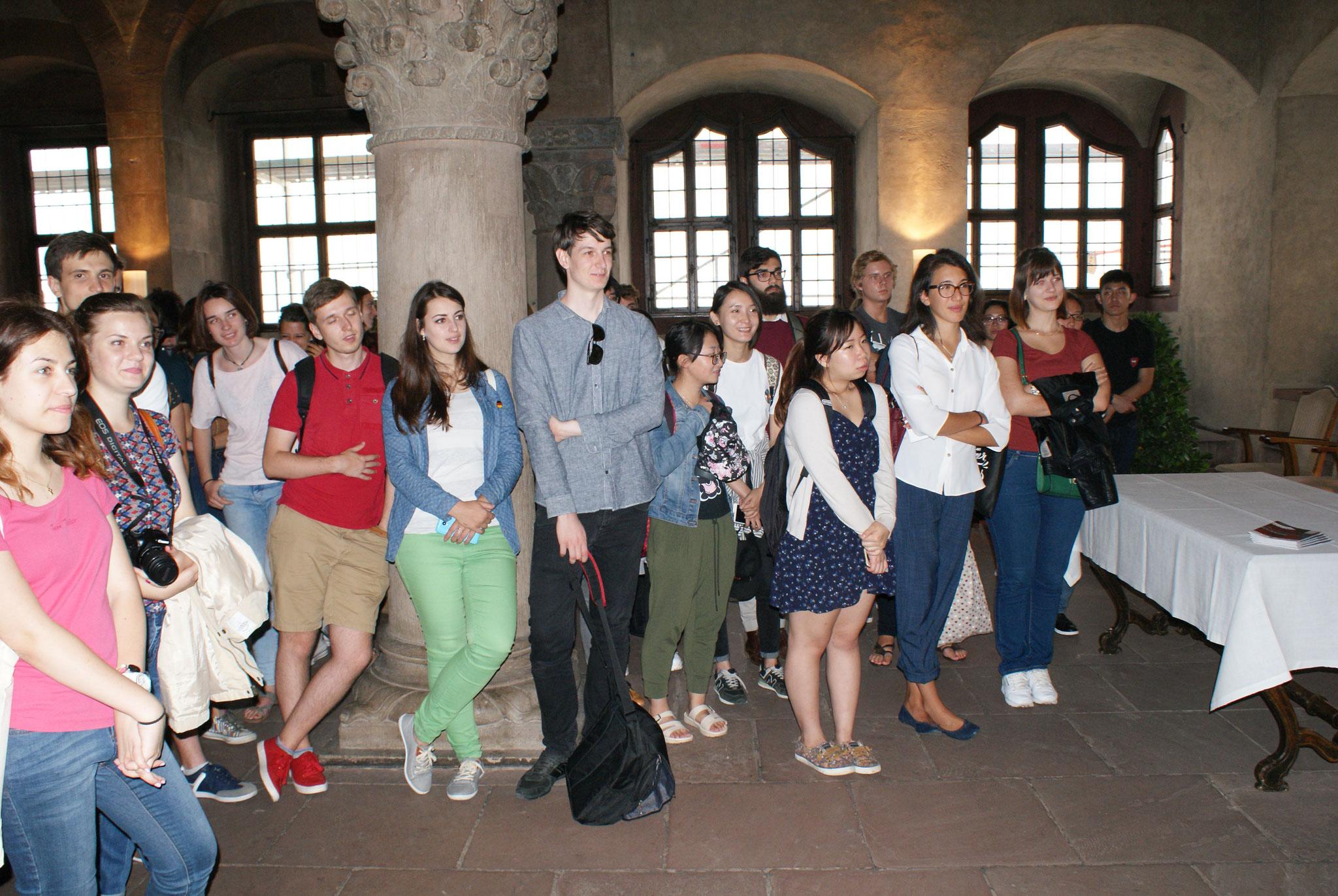 Deutsch-Sommersprachkurs Universität Würzburg, Deutsch lernen in Würzburg, Kulturprogramm, Empfang bei der Stadt Würzburg im Rathaus