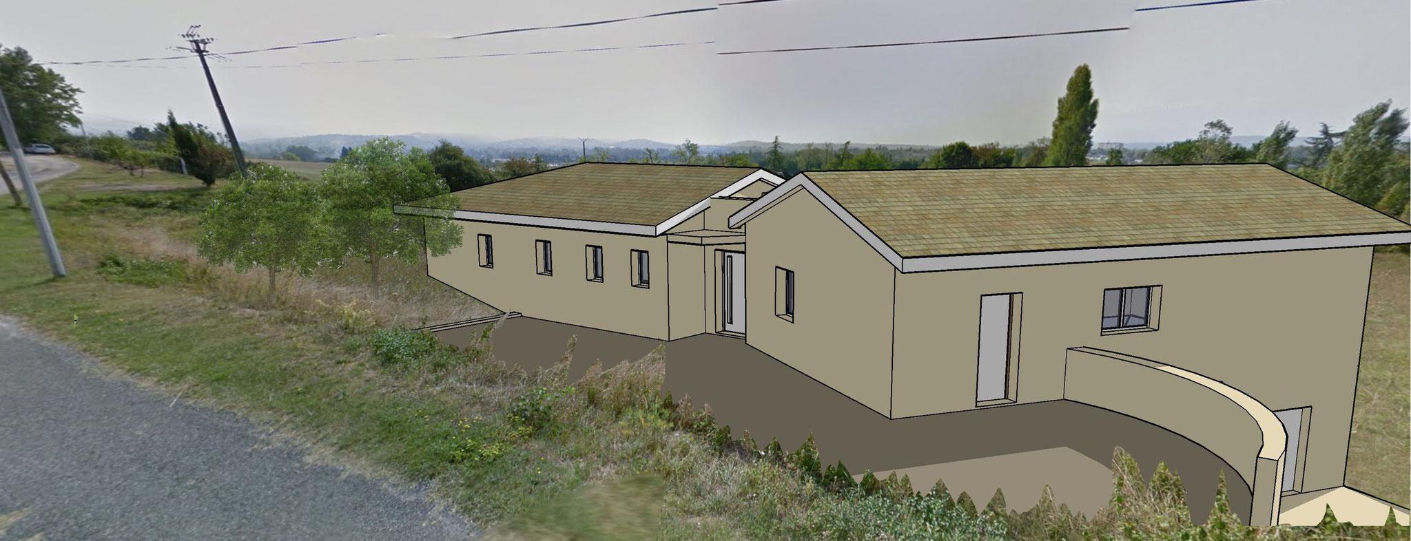 Maisons individuelles neuves site de dbarchitecte - Acces chantier maison individuelle ...