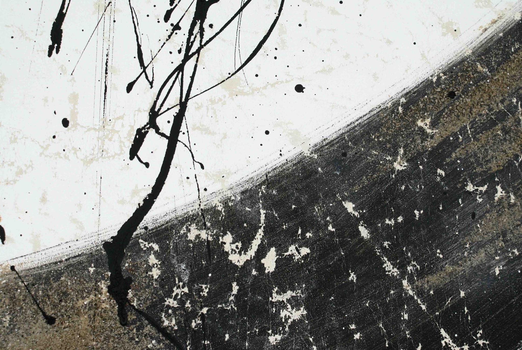Gewaschene Rohseide - Detail