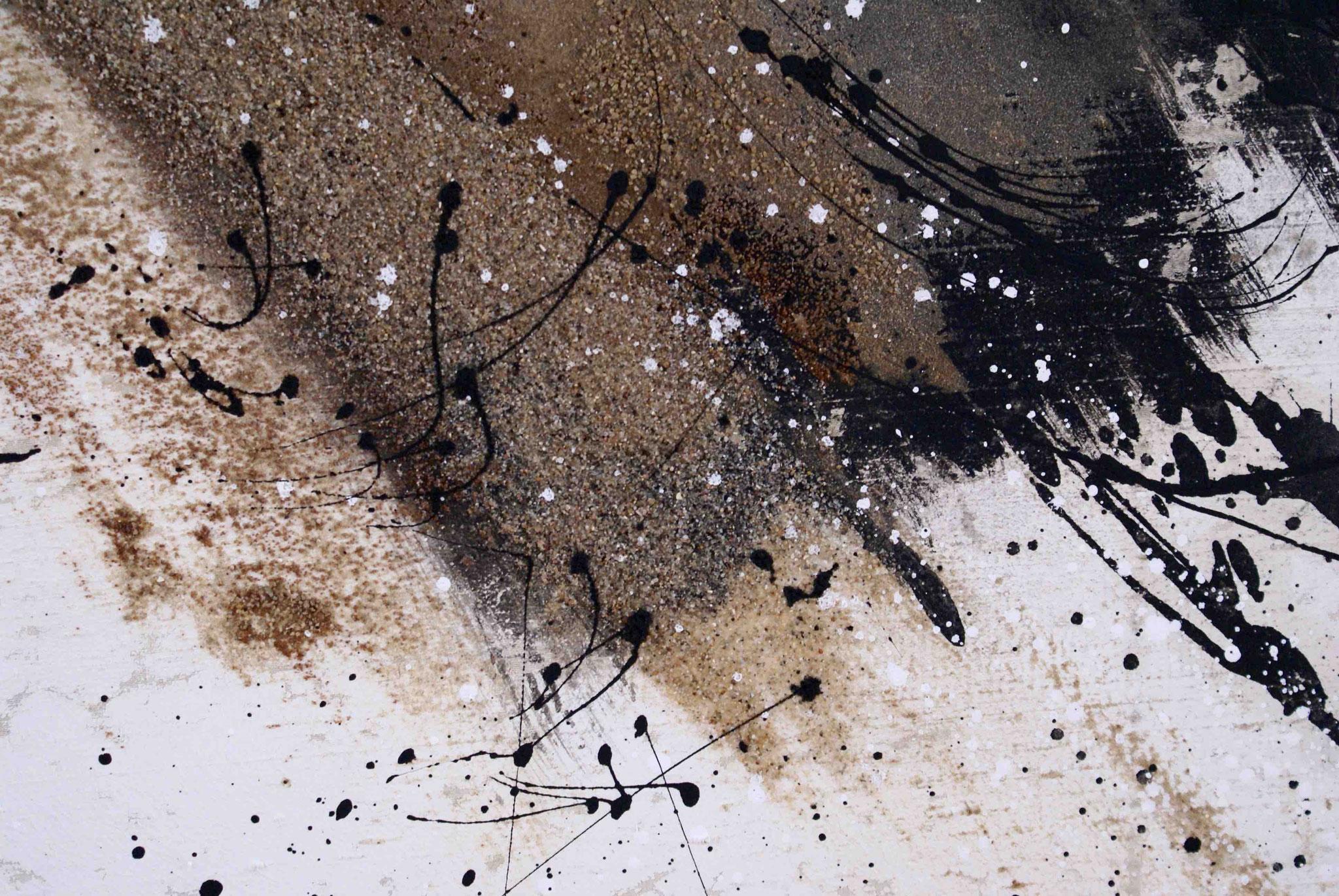Gewaschene Rohseide - besandet - Detail