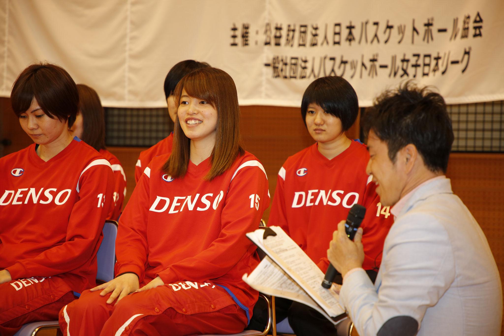 稲井選手へインタビュー
