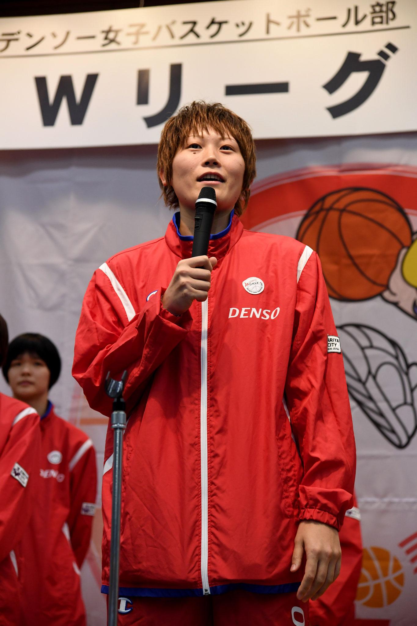 髙田選手 決意表明