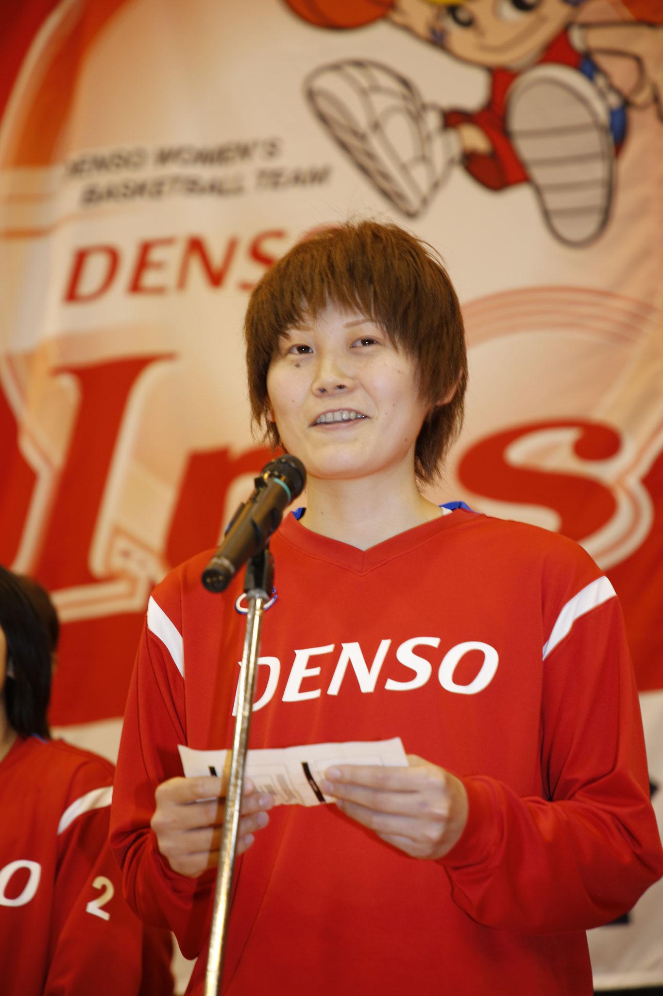 髙田真希選手がシーズンの感謝を伝えました