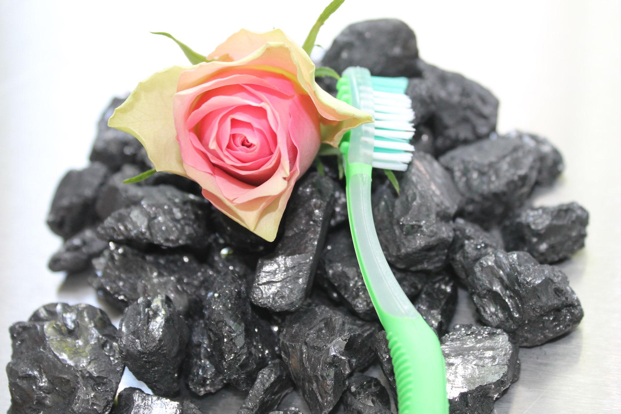 Zahnreinigung mit Kohle und Rosen?!