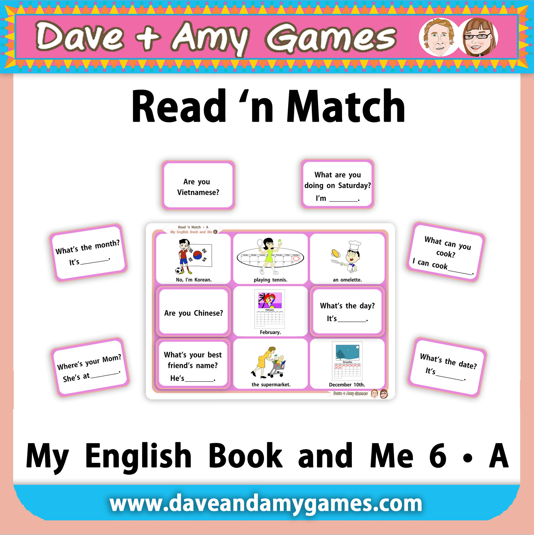 Read 'n Match MEB6 Set A